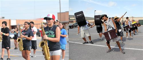 Marching bands get ready for football and competition
