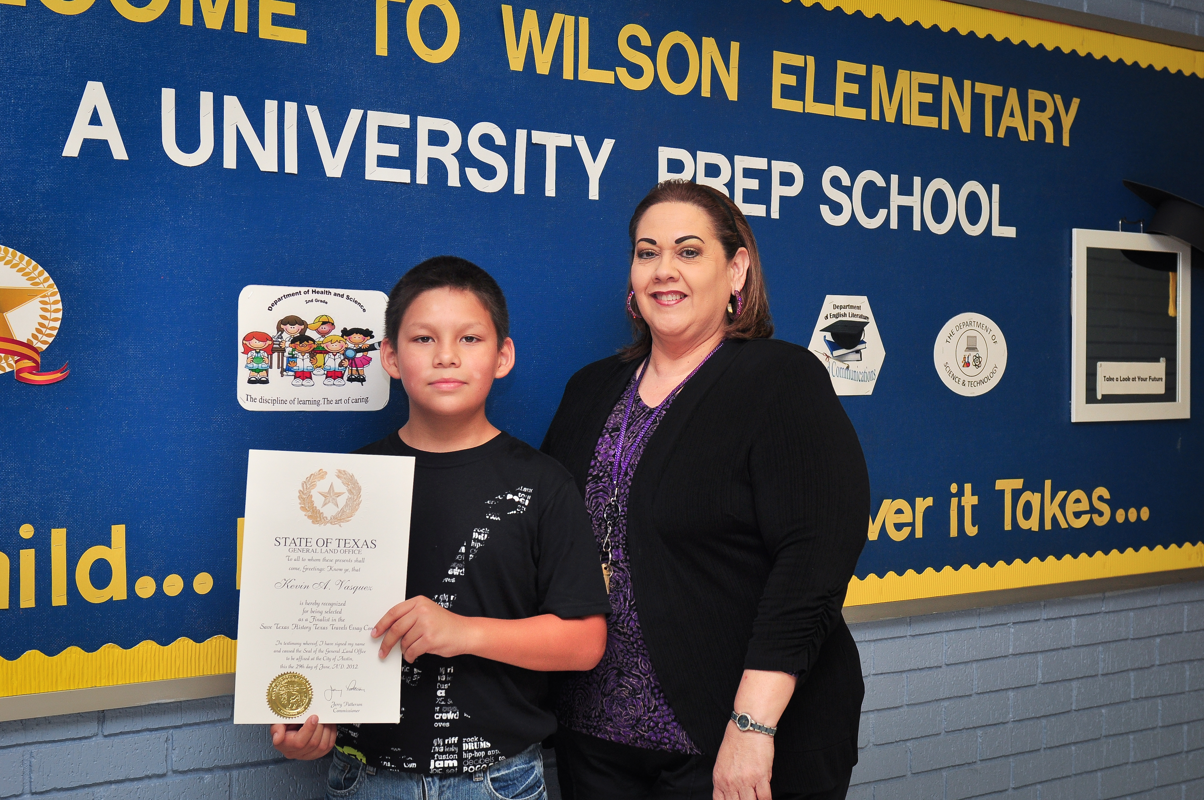Wilson Elementary student receives state recognition for essay