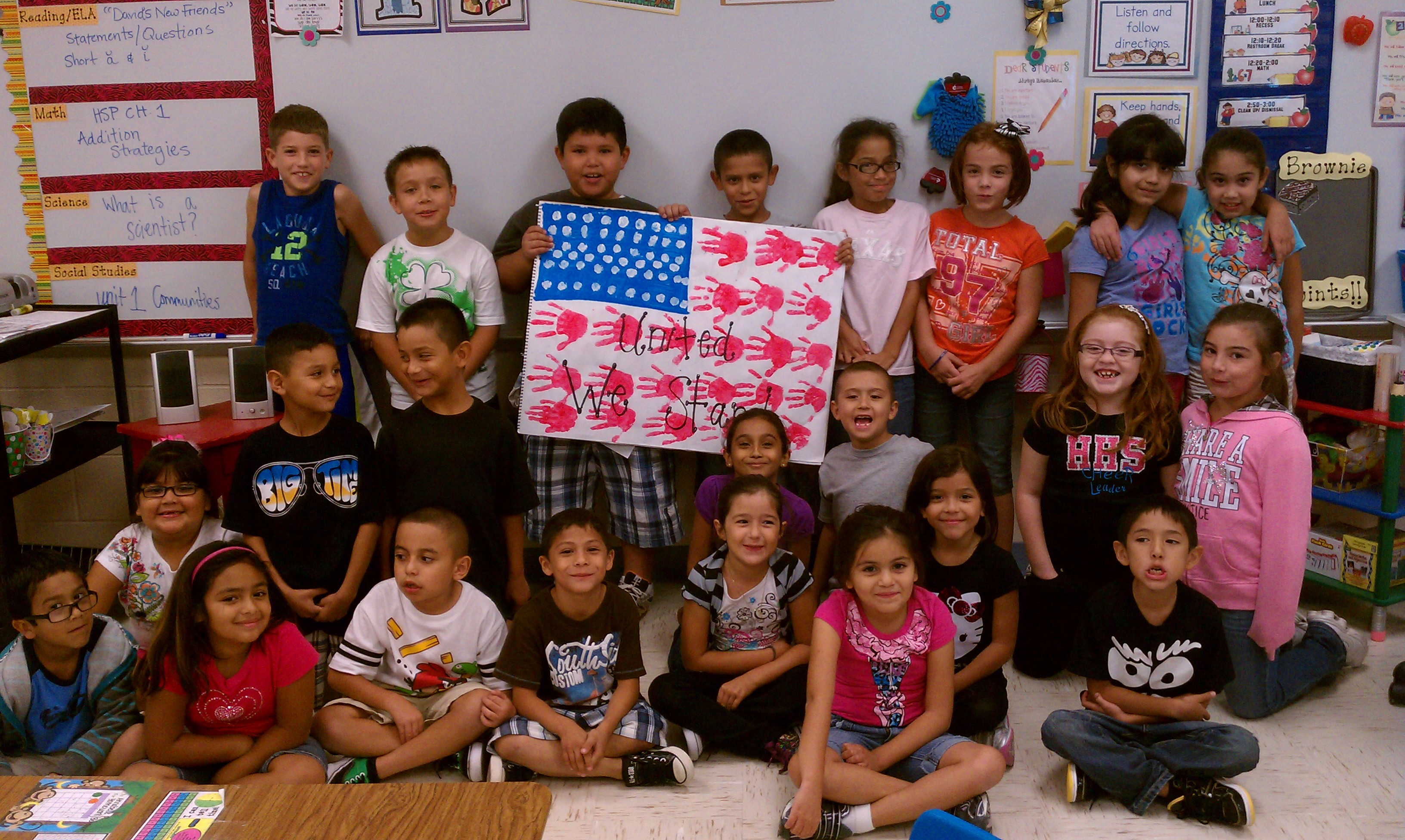Dr. Rodriguez 2nd grade class shares Pledge of Allegiance project