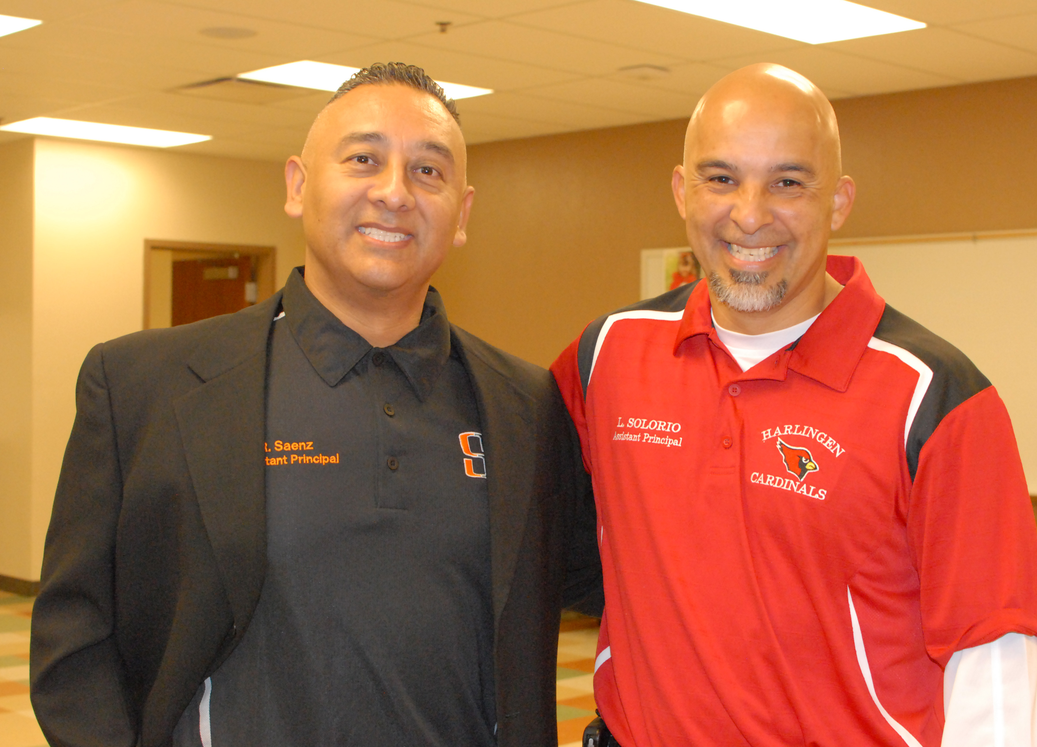 Cardinals and Hawks break bread before annual game