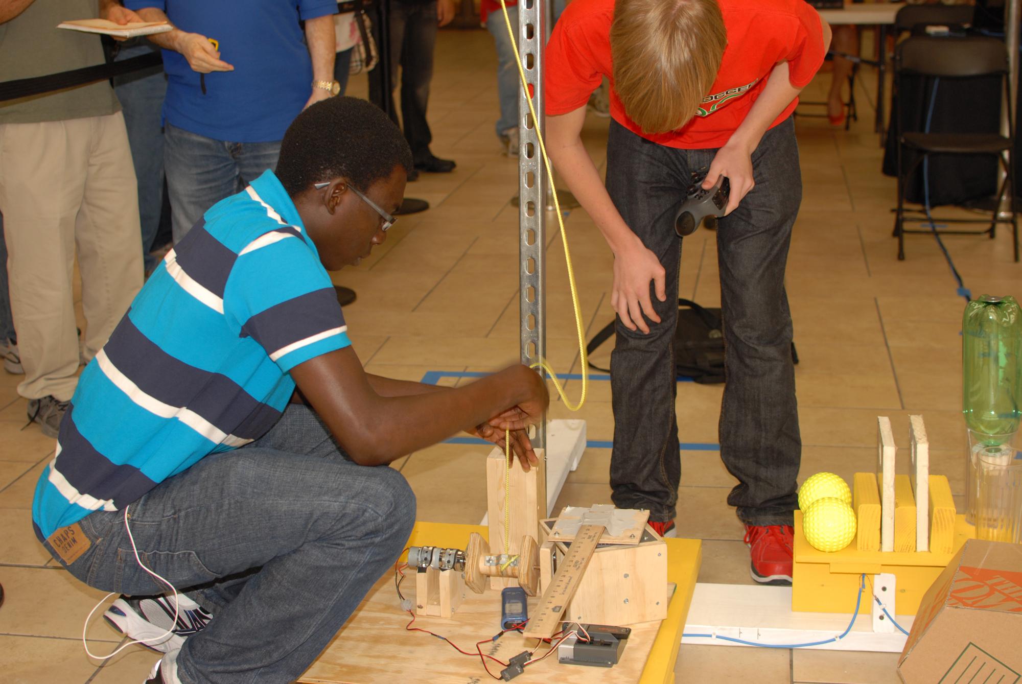 Demo Day 2012: High school robotics teams prepare for upcoming competition