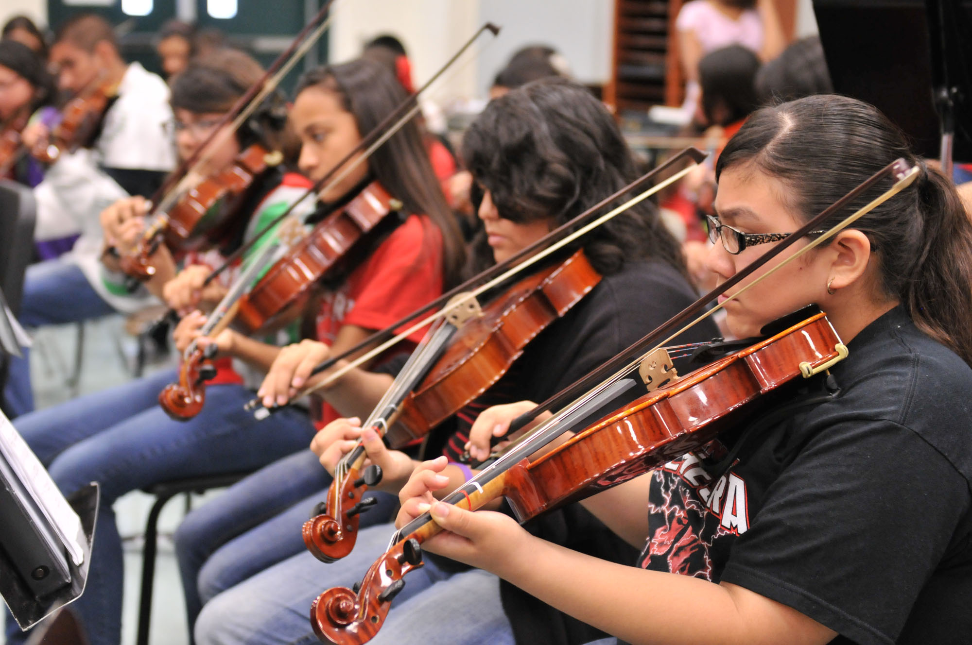 Middle and high school students awarded positions in Region Orchestra
