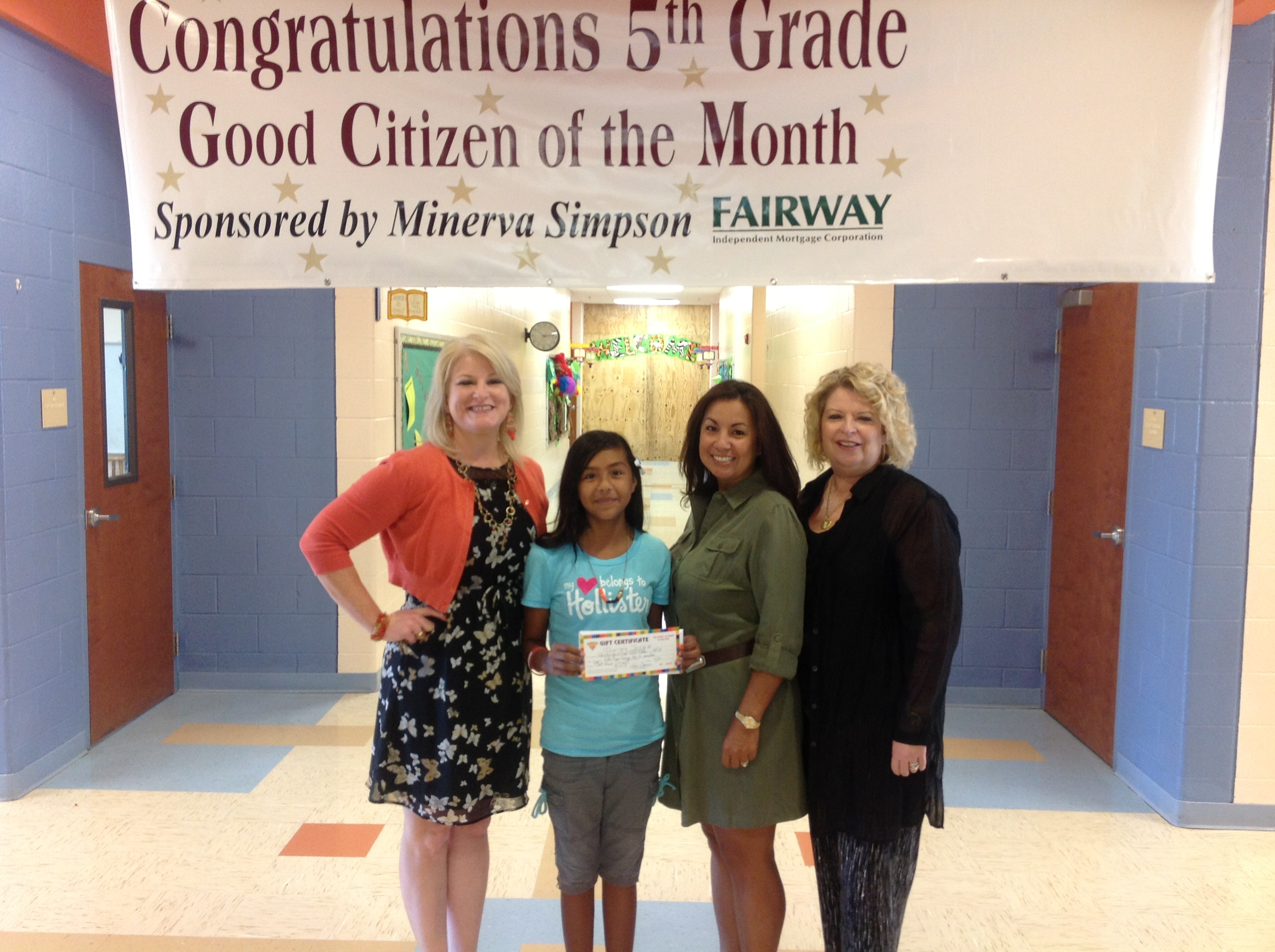 Journey Torrez wins 5th grade Student of the Month