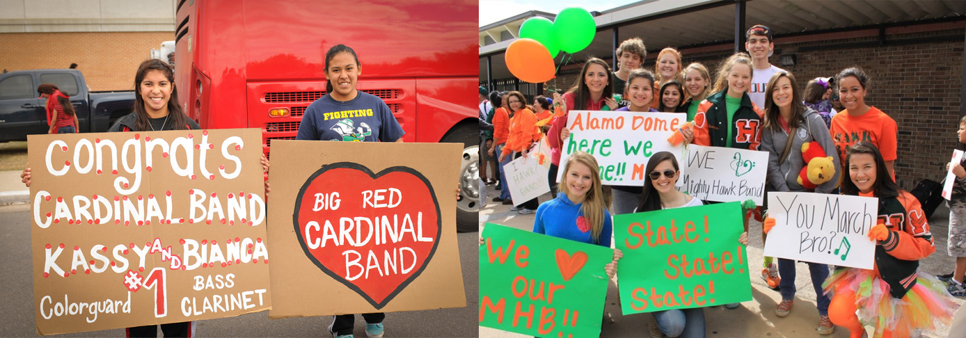 Marching bands receive spirited send off to state competition