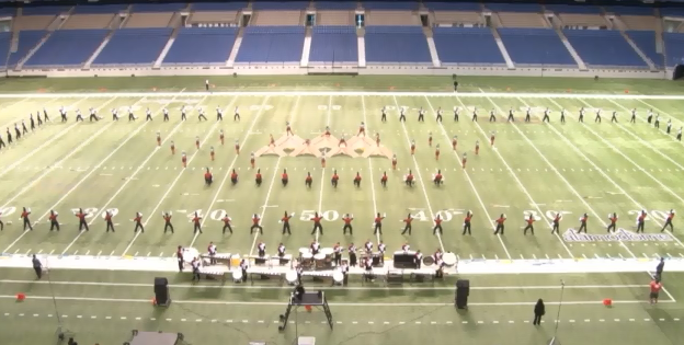 Big Red Cardinal Band at UIL State Championship 2012