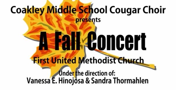 Coakley Fall Concert