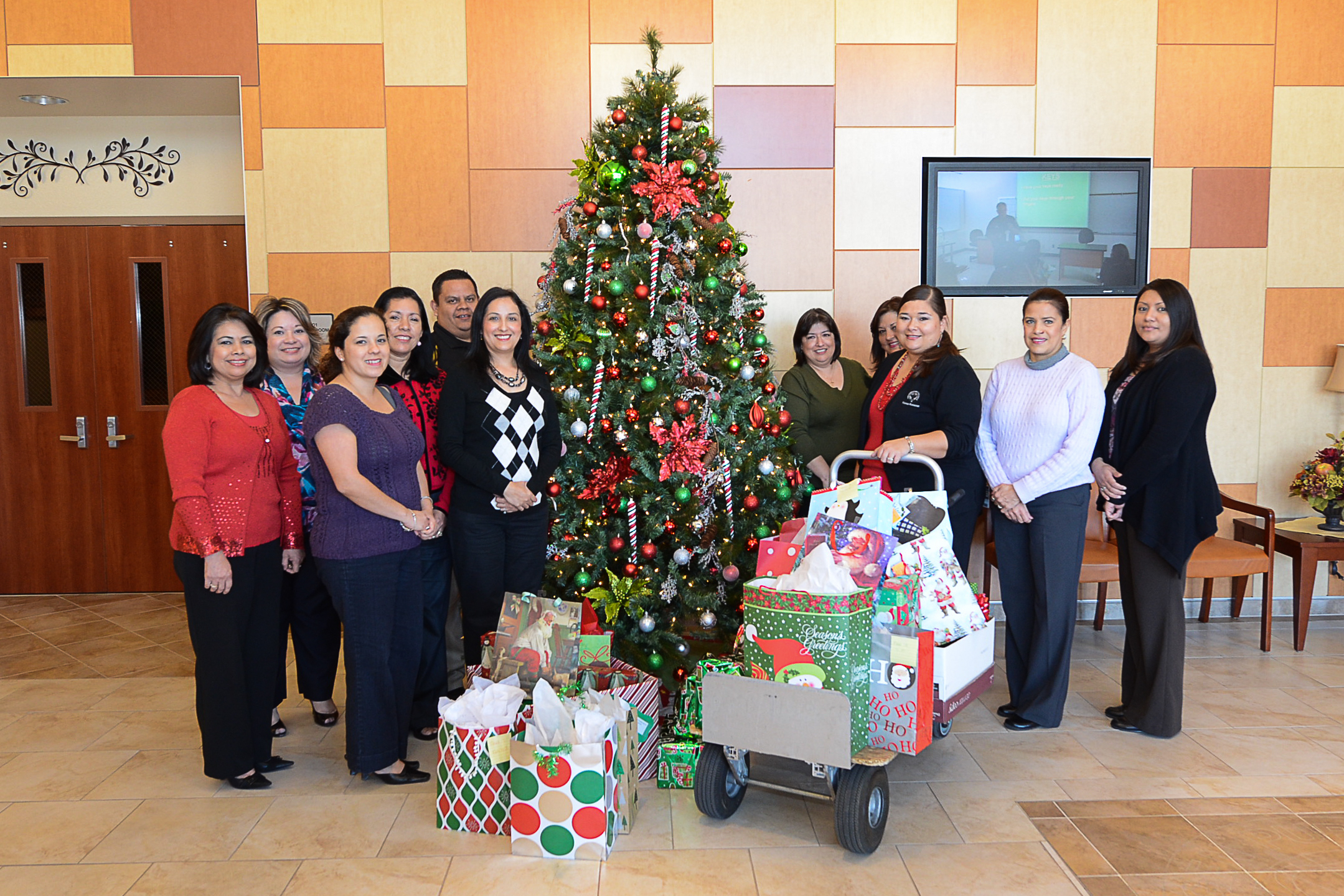 Human Resources and Technology give to families at HCISD