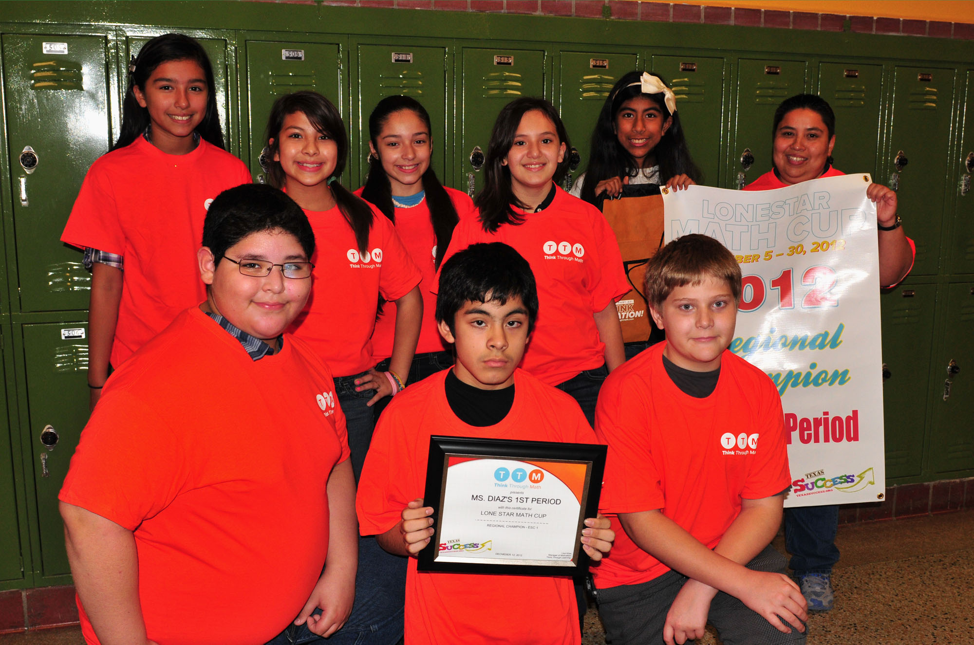 Vernon math class awarded top prize in region academic competition