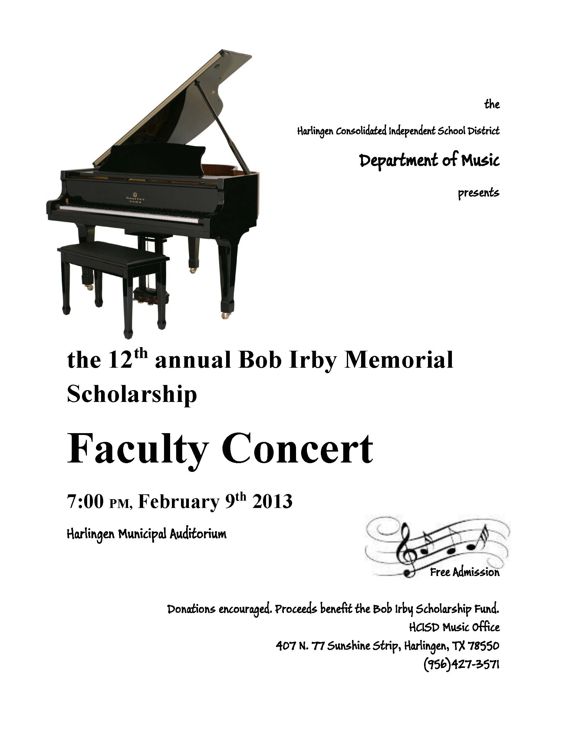 Music Department gears up to host faculty concert for scholarship fund