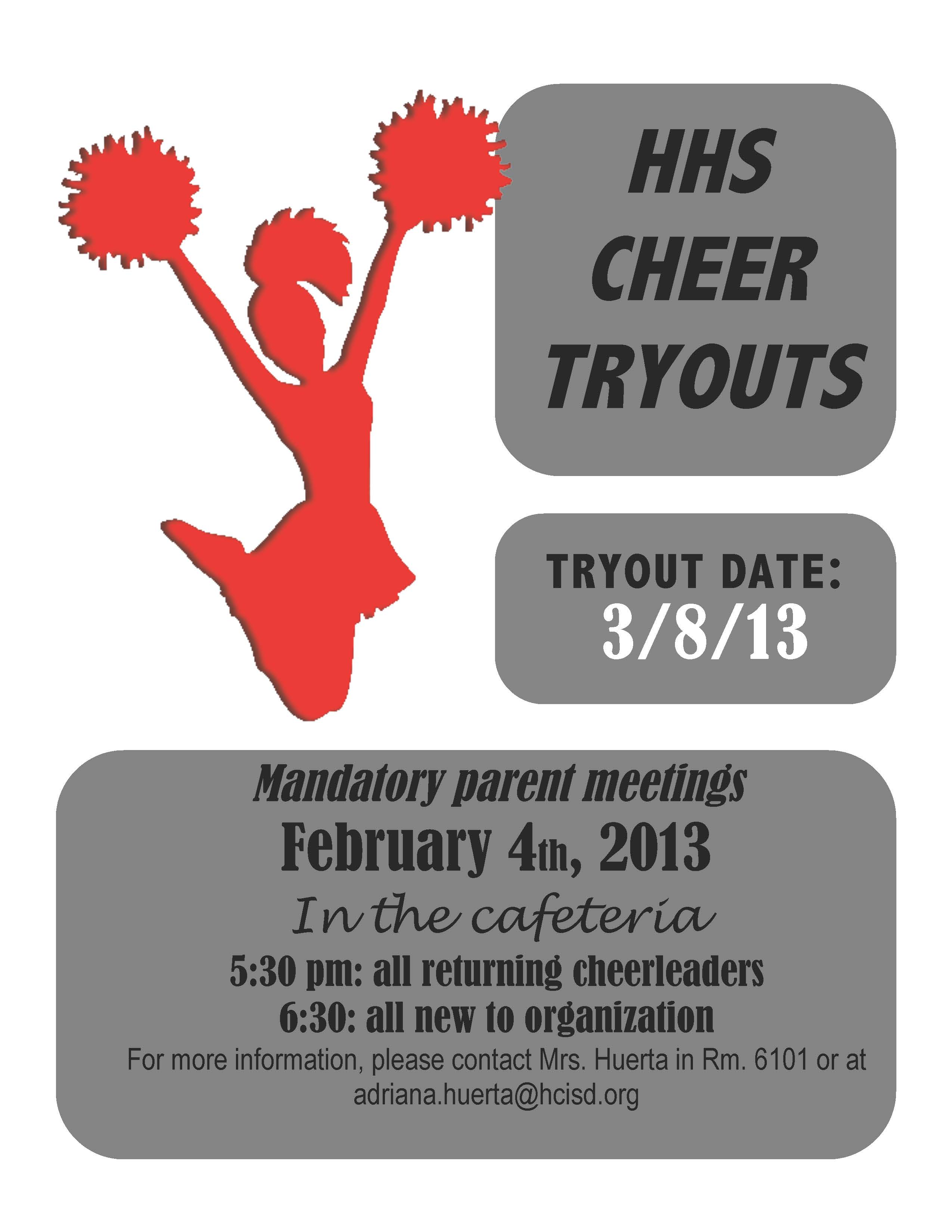 HHS and Dr. Abraham P. Cano Freshman Academy to host cheer tryouts