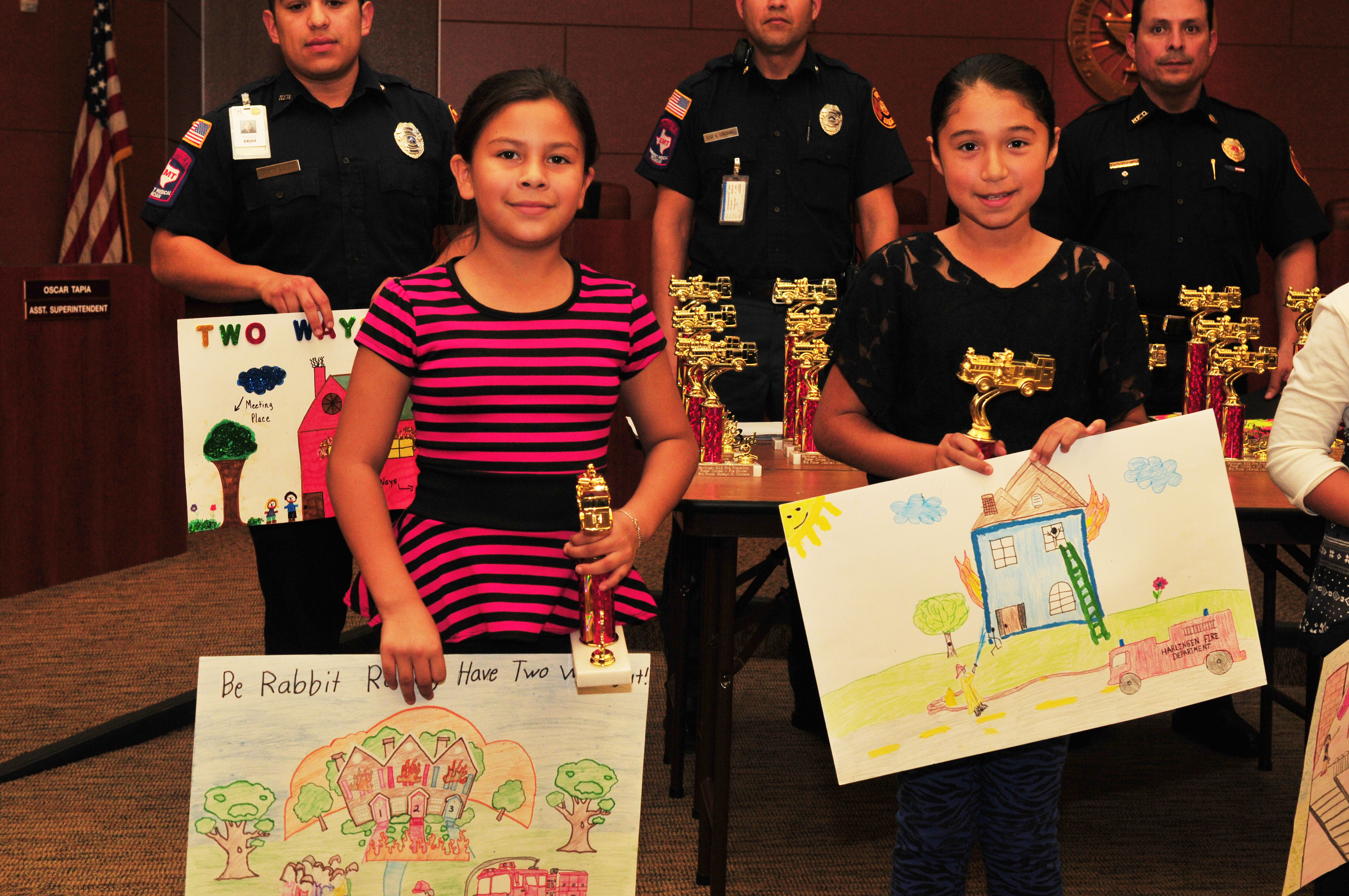 Students place in Fire Prevention Poster Contest