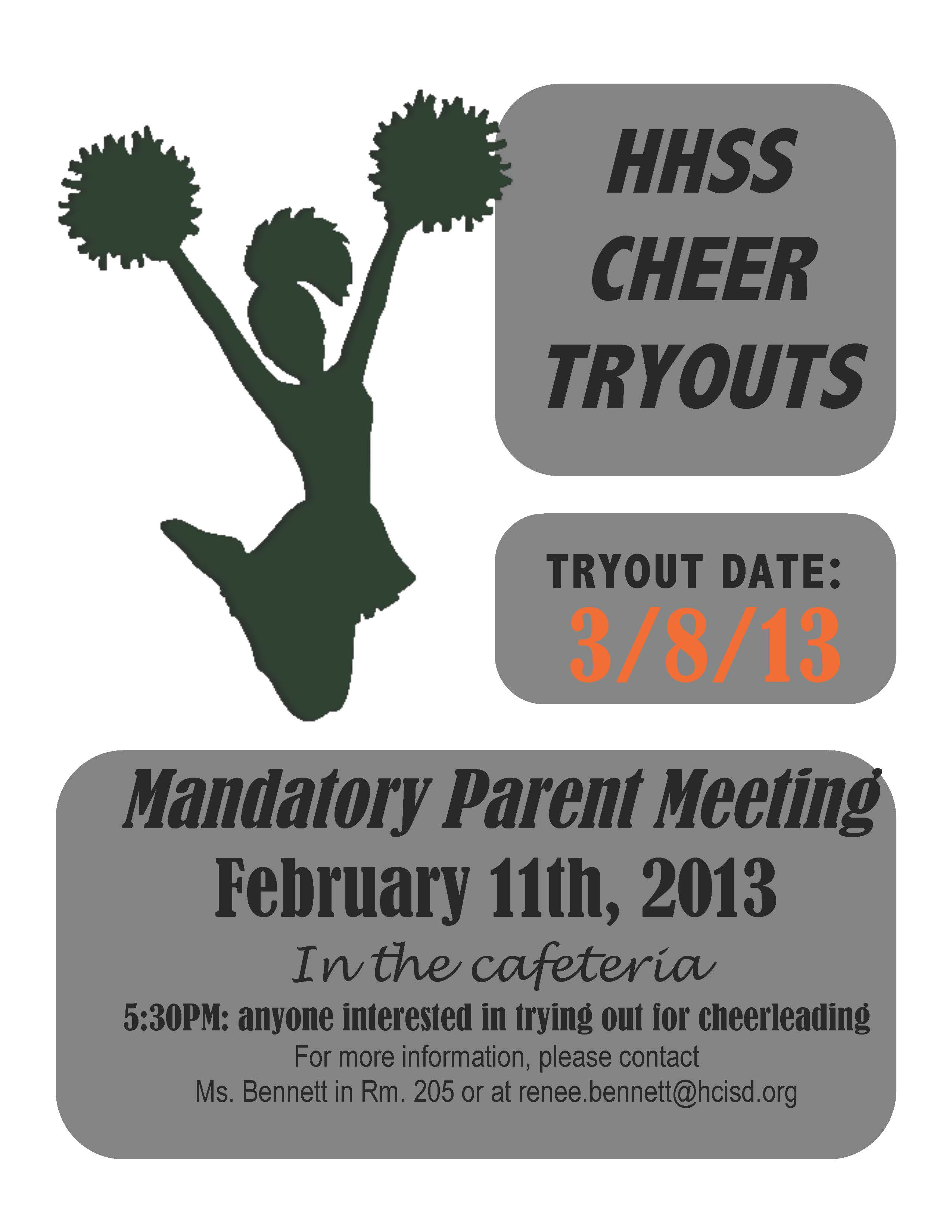 HHSS and Dr. Abraham P. Cano Freshman Academy to host cheer tryouts