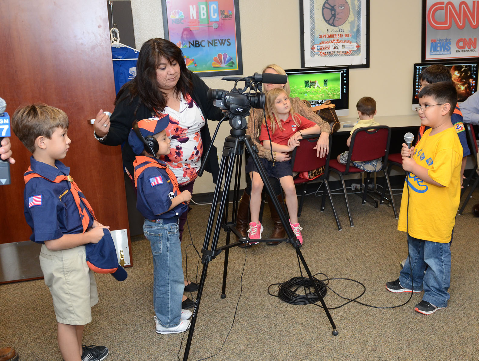 Cub Scouts get crash course in television production