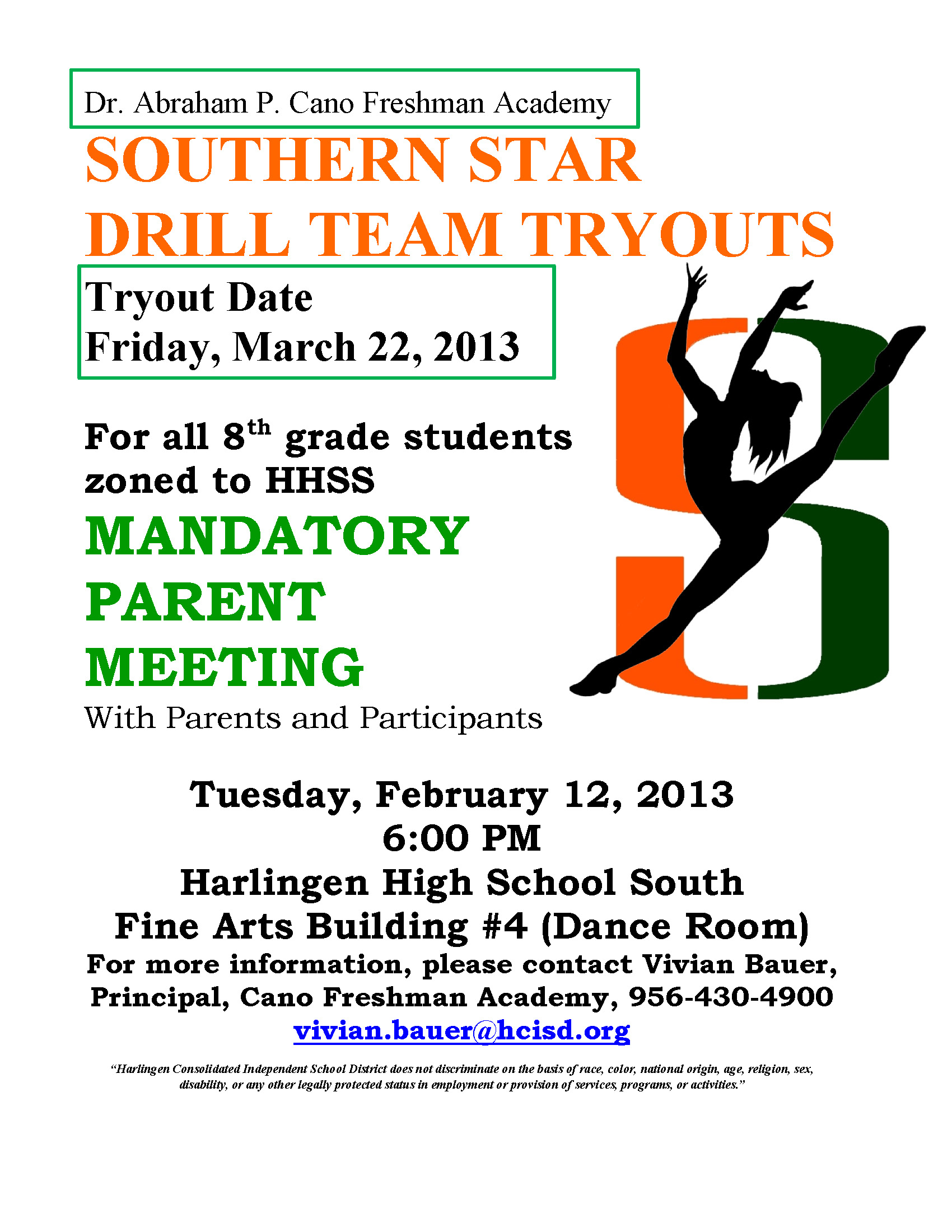 Cano Freshman Academy, HHSS to host drill team tryouts