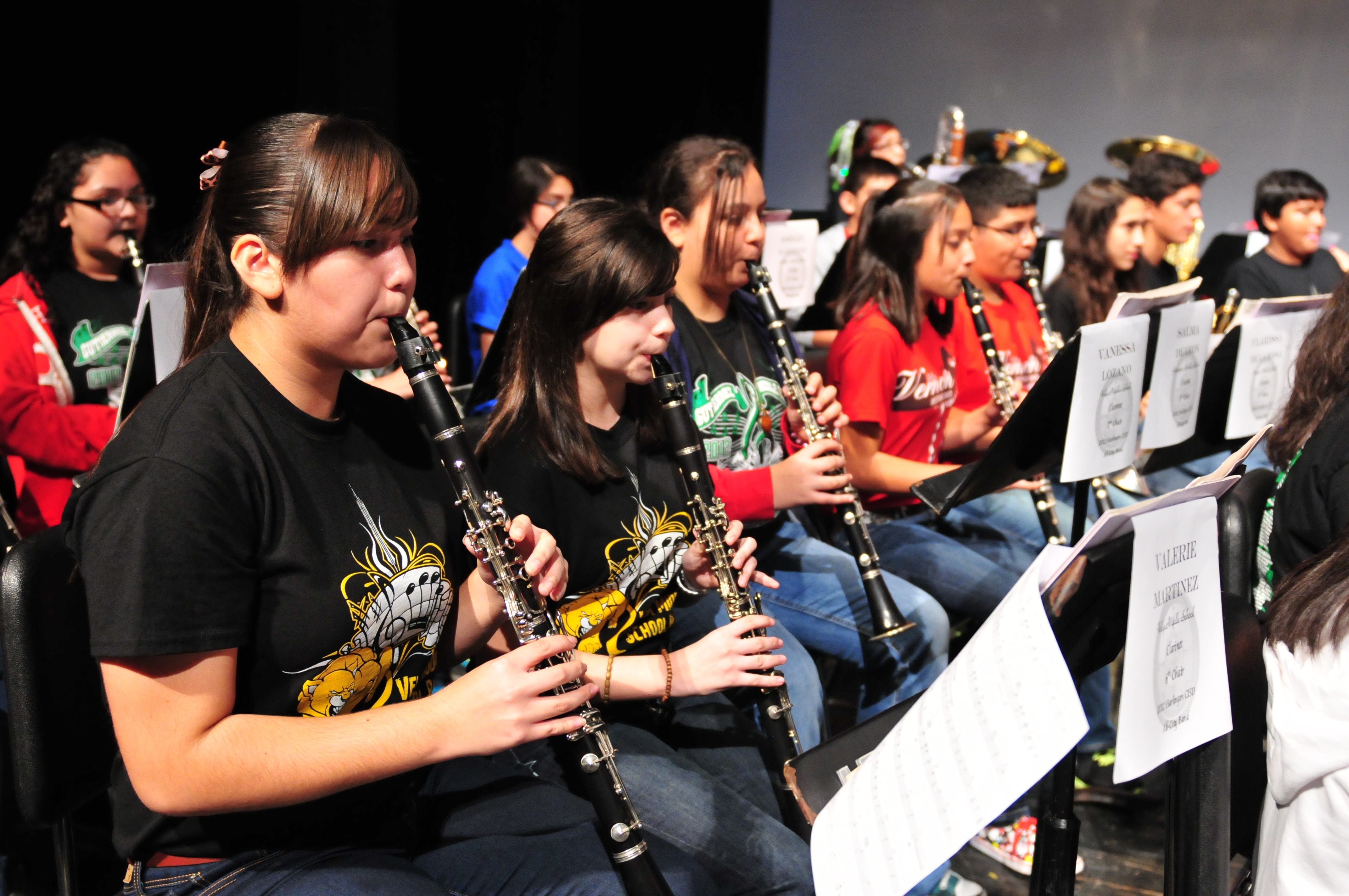 Middle School Honor Bands recordings and concert schedule