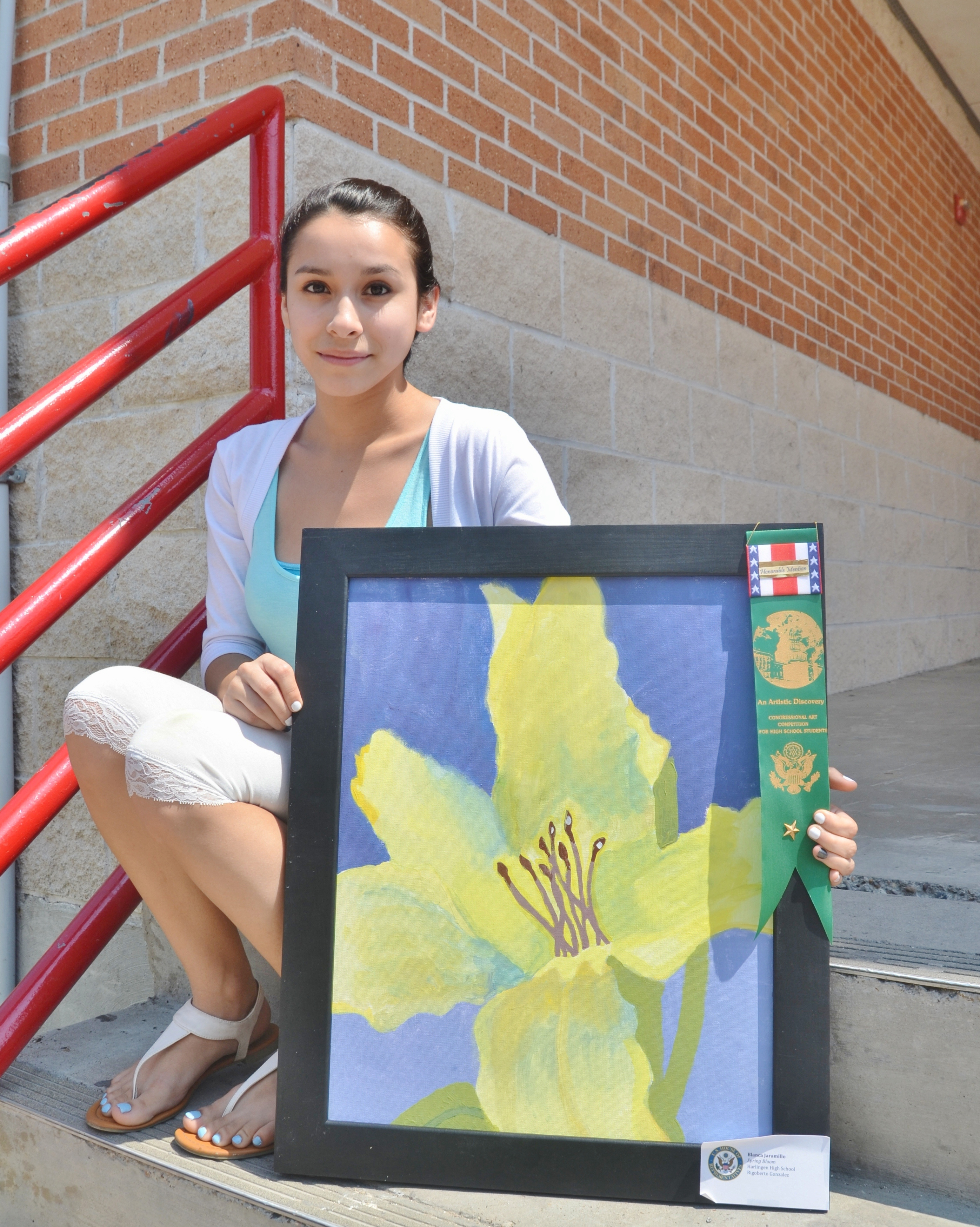 HHS student recognized for artistic abilities at congressional competition