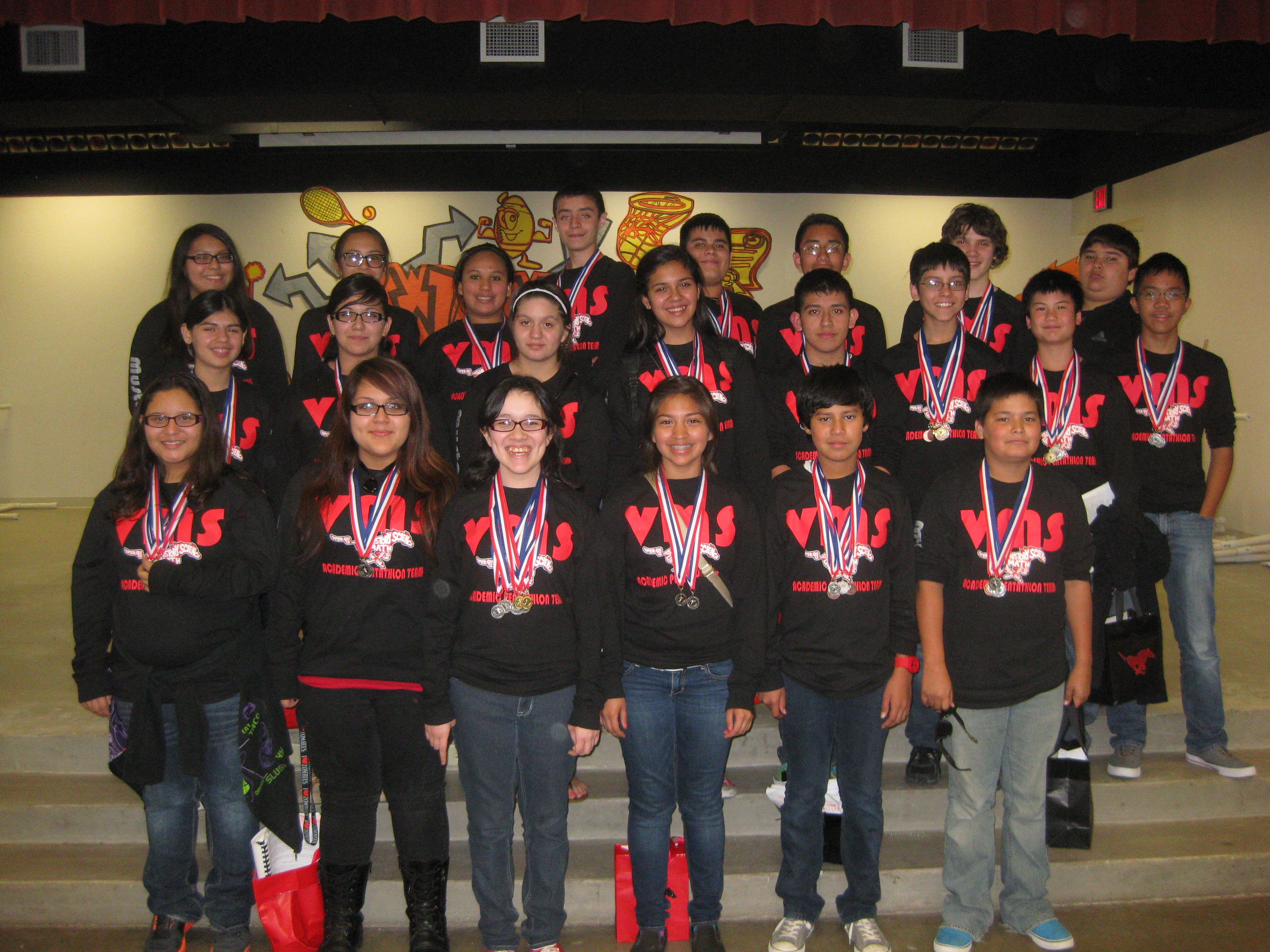 Vernon Pentathlon Team use brainpower to succeed at region competition