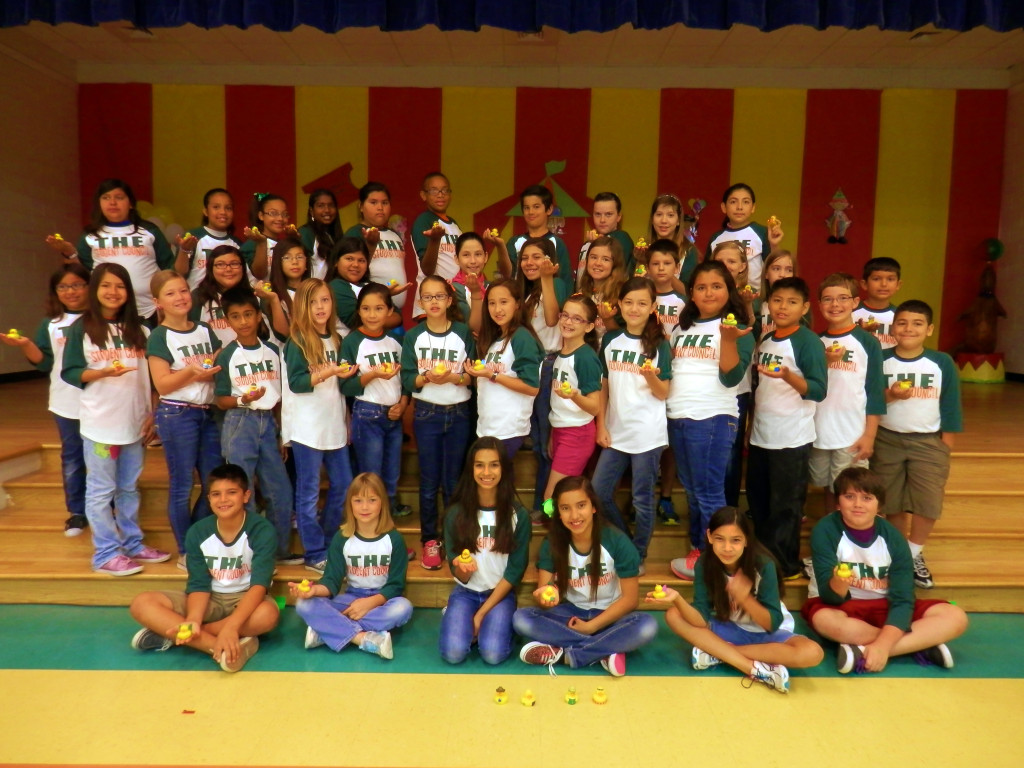 HCISD » Treasure Hills Student Council sends rubber ducks for support