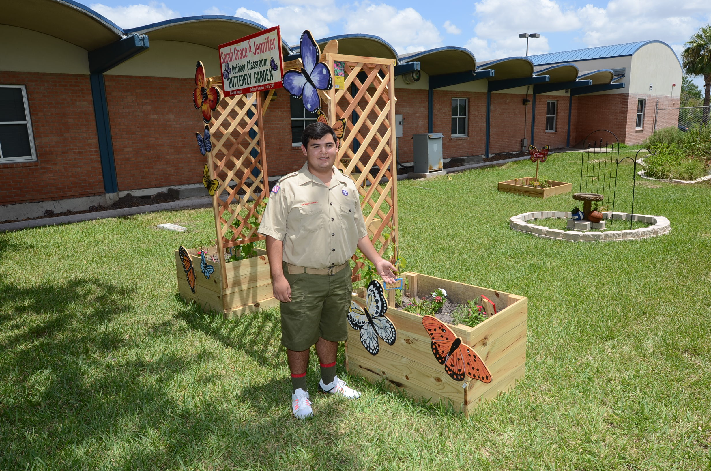 Eagle Scout hopeful builds outdoor classroom at former campus