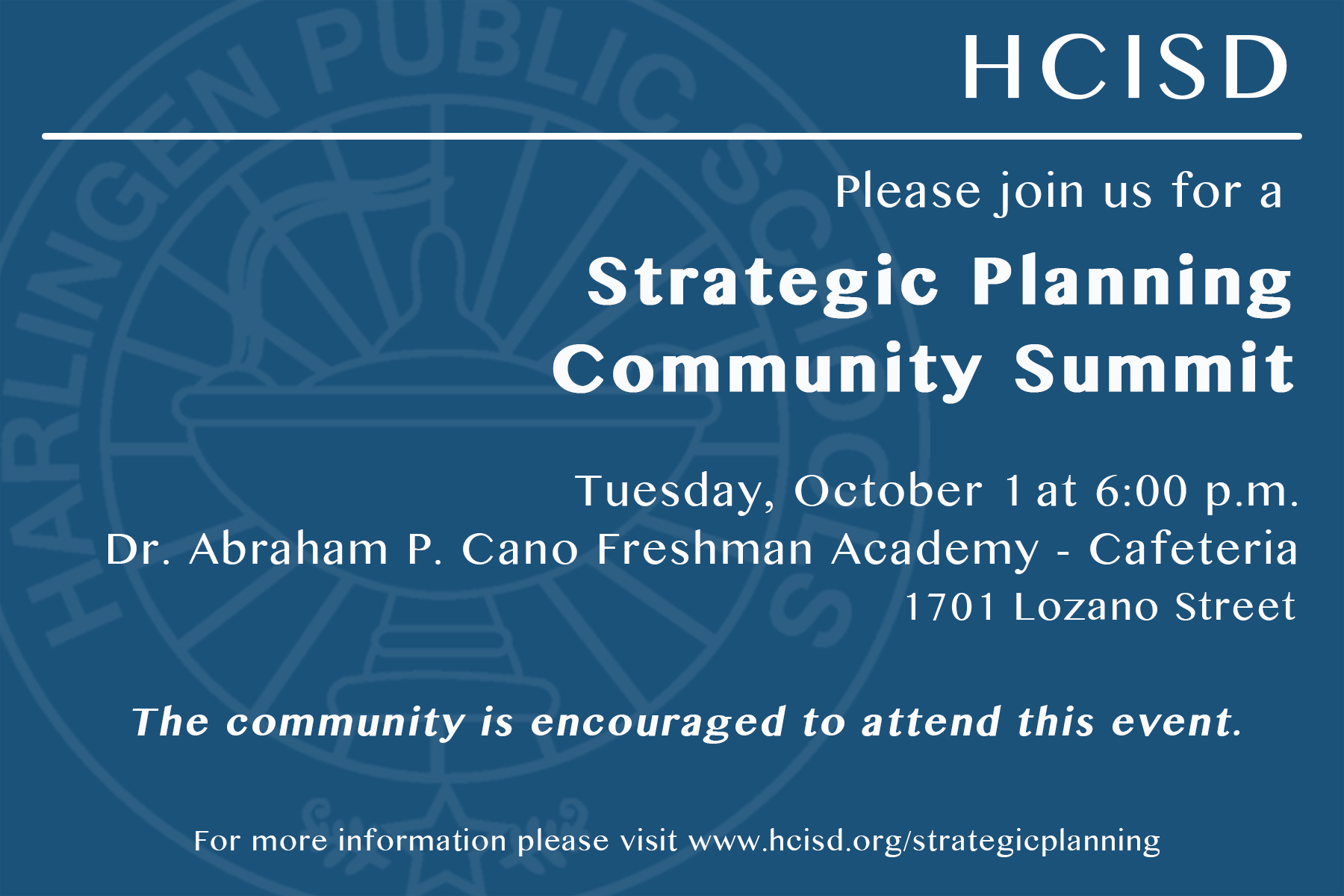 HCISD hosts Strategic Planning Community Summit to pave way for future success