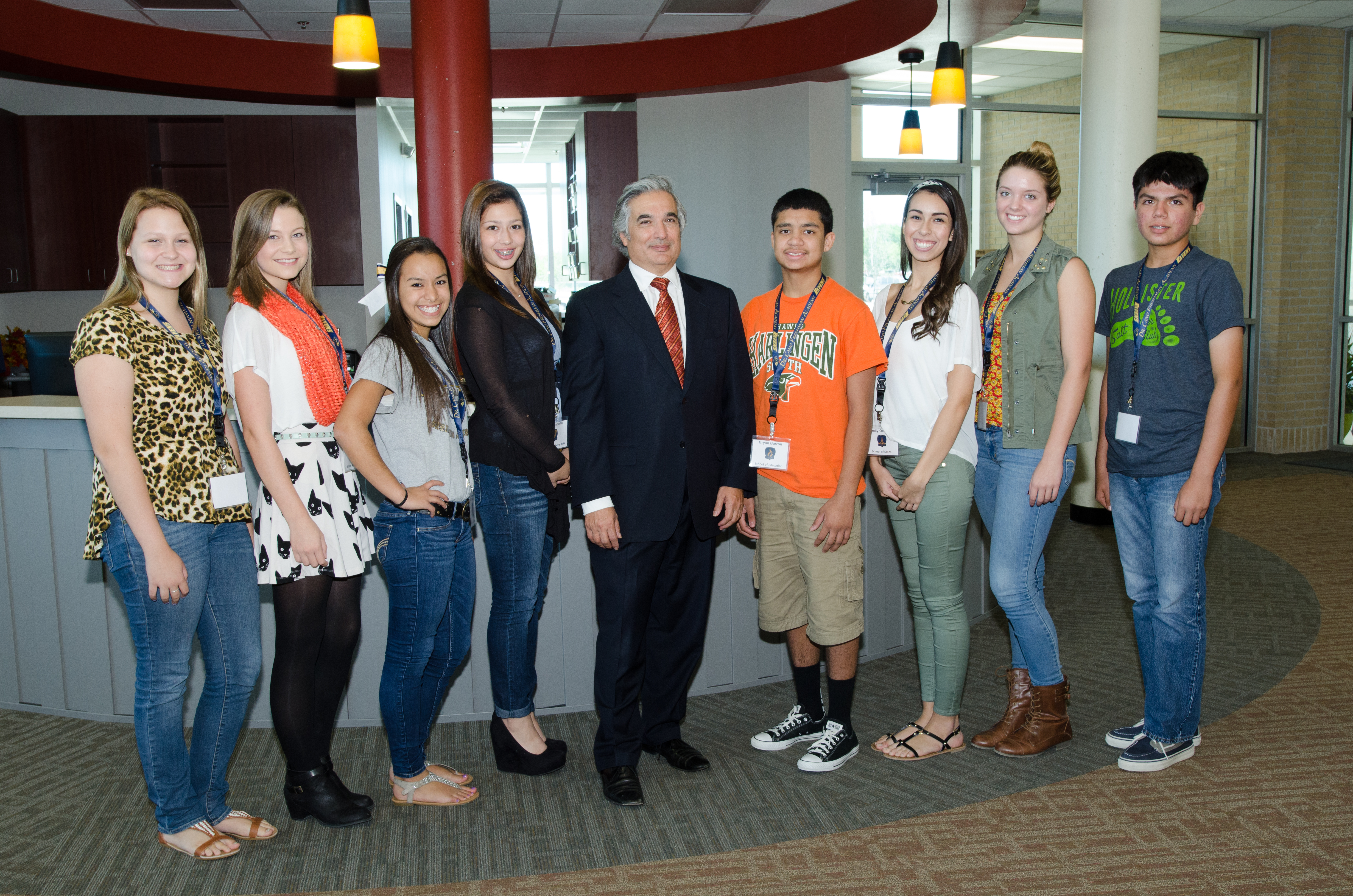UT Chancellor visits with students about the future of education