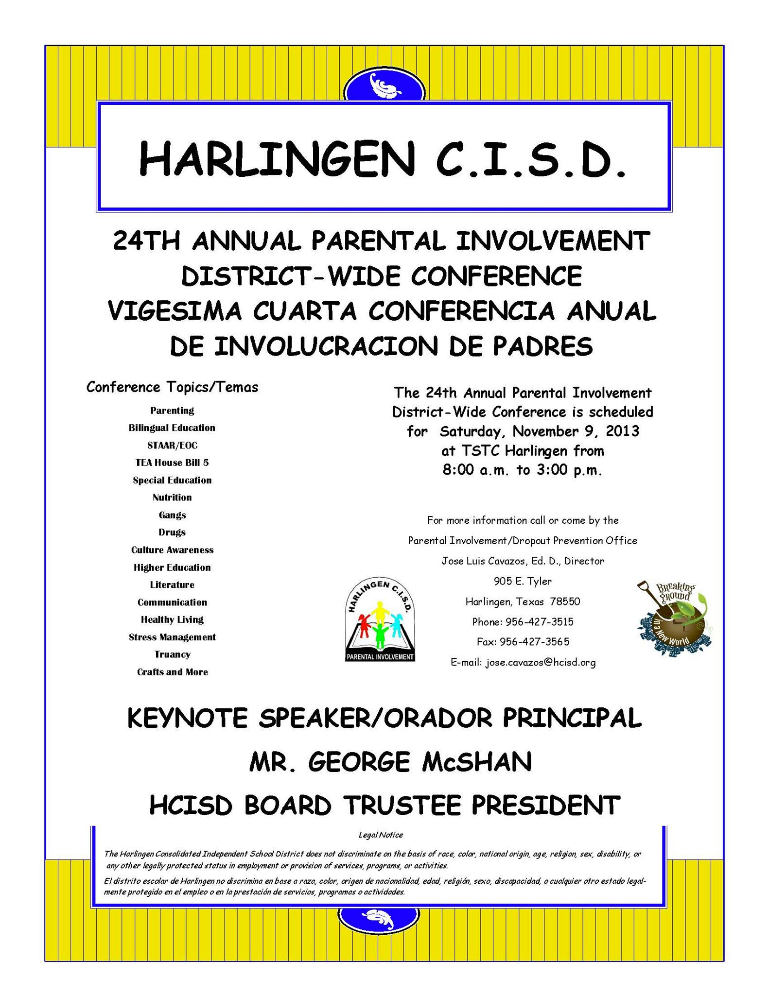 HCISD hosts 24th Annual Parental Involvement Conference