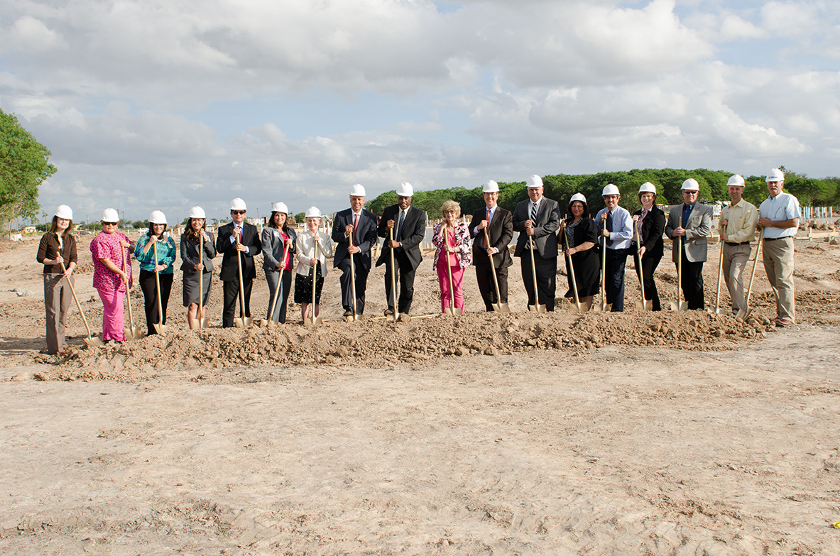 HCISD students one step closer to medical career with groundbreaking of School of Health Professions