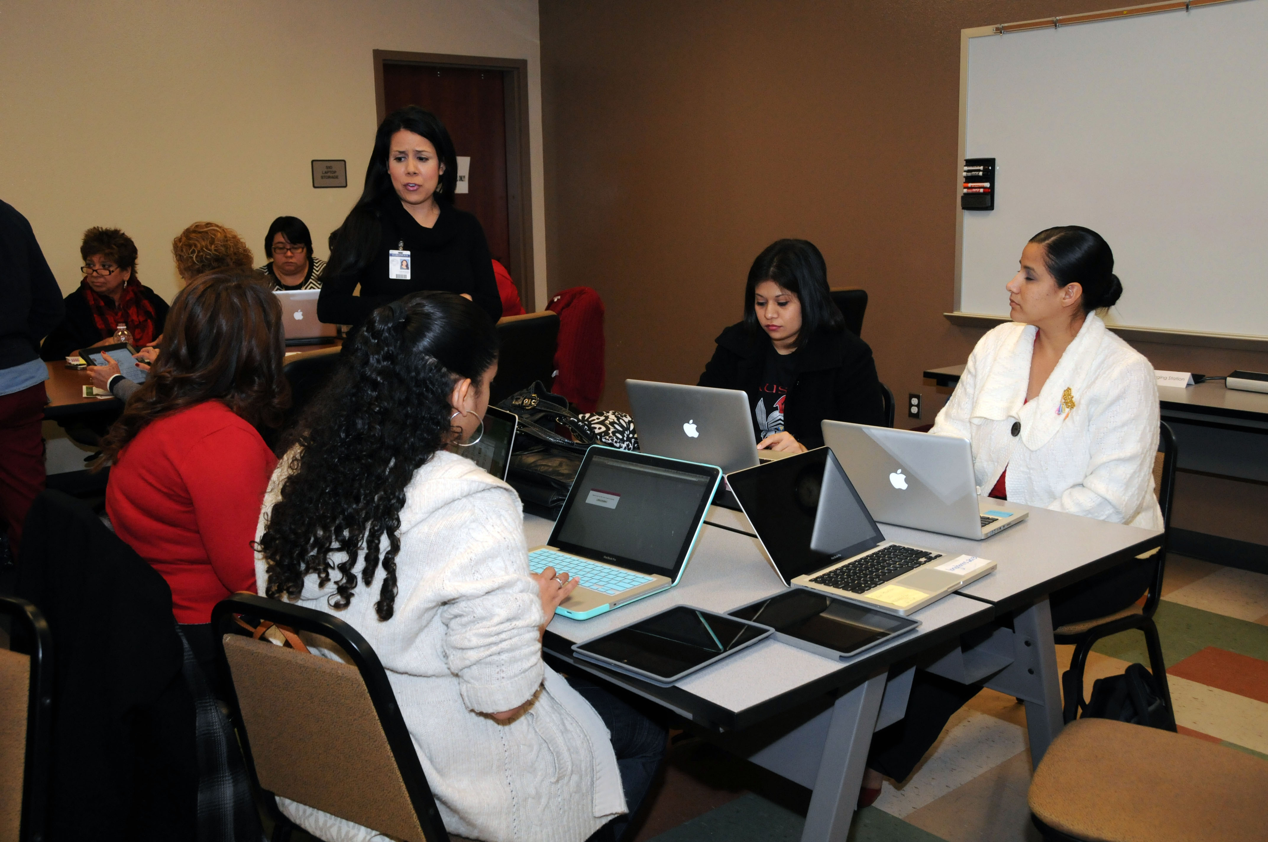 Digital classroom teachers ring in the holiday with technology during Techmas event