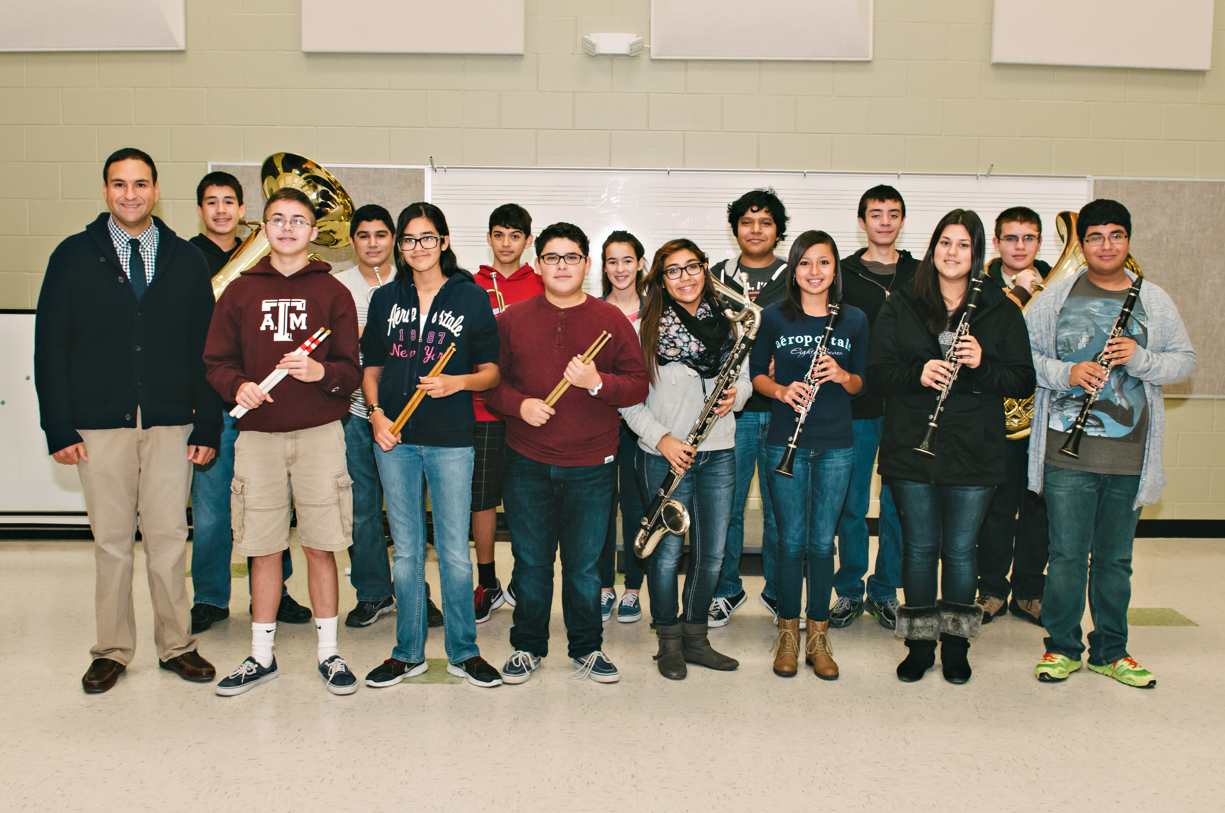 Dr. Cano Academy band members earn spots on region ensemble