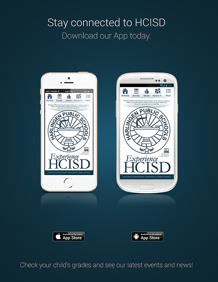 Parents and students stay connected with HCISD: District launches mobile application for smartphones and tablets