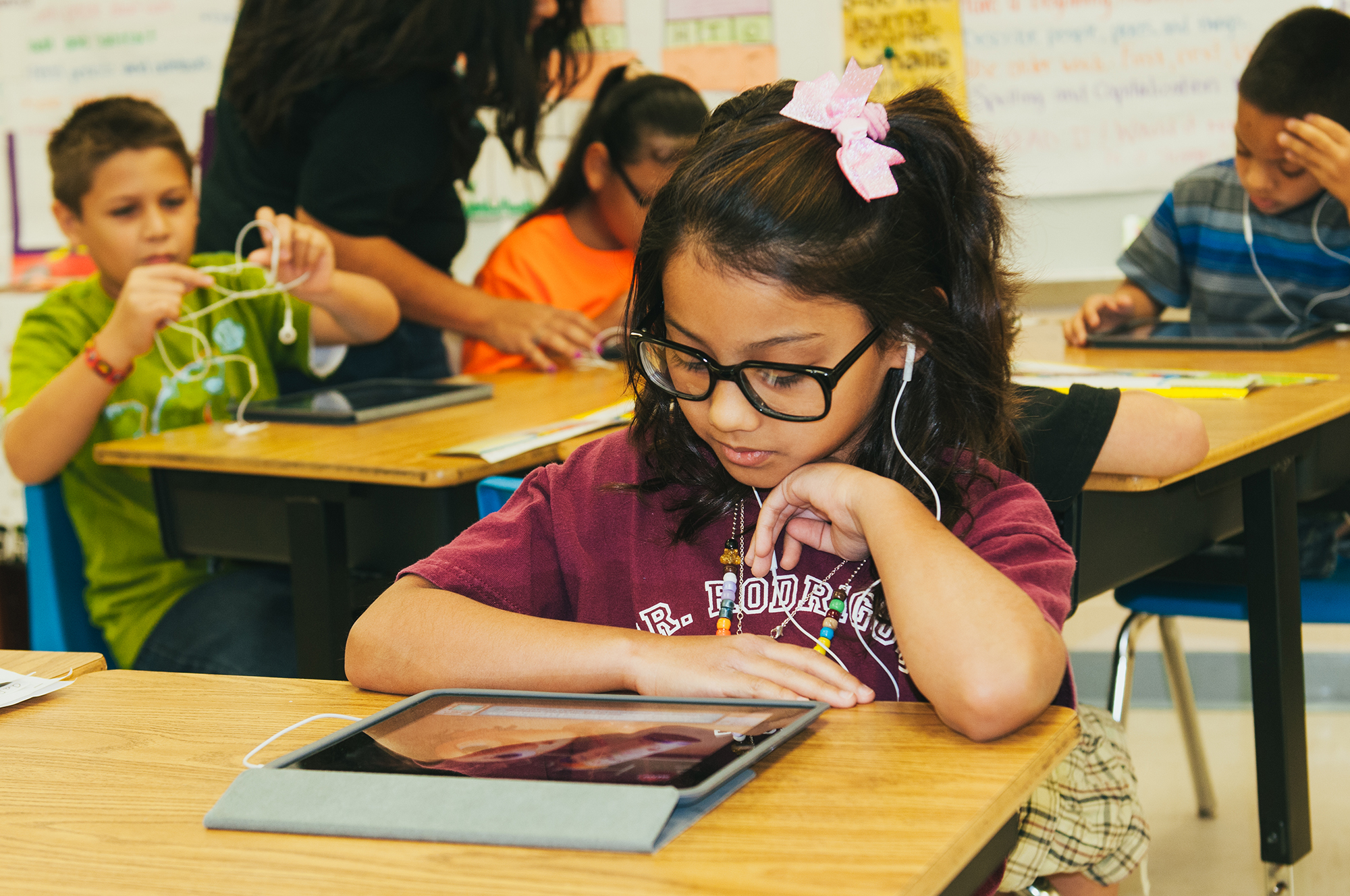 Students get an edge with technology in the classrooms