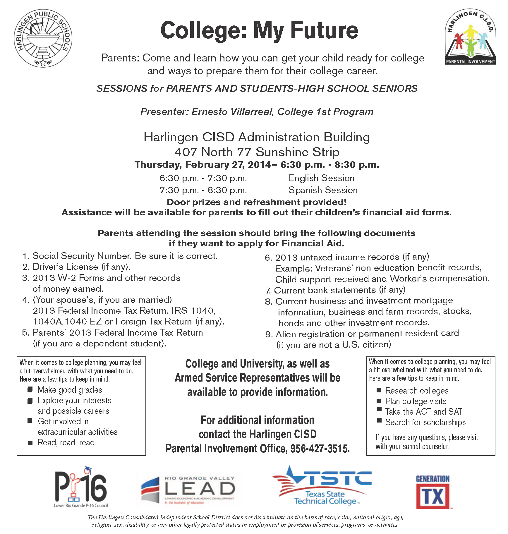 HCISD students invited to College:My Future event