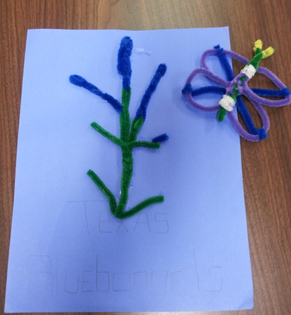Bluebonnet and Butterfly, Khalil Lopez, Kindergarten