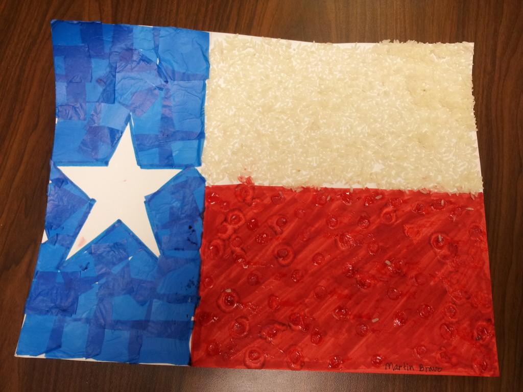Texas Flag, Martin Bravo, Kindergarten