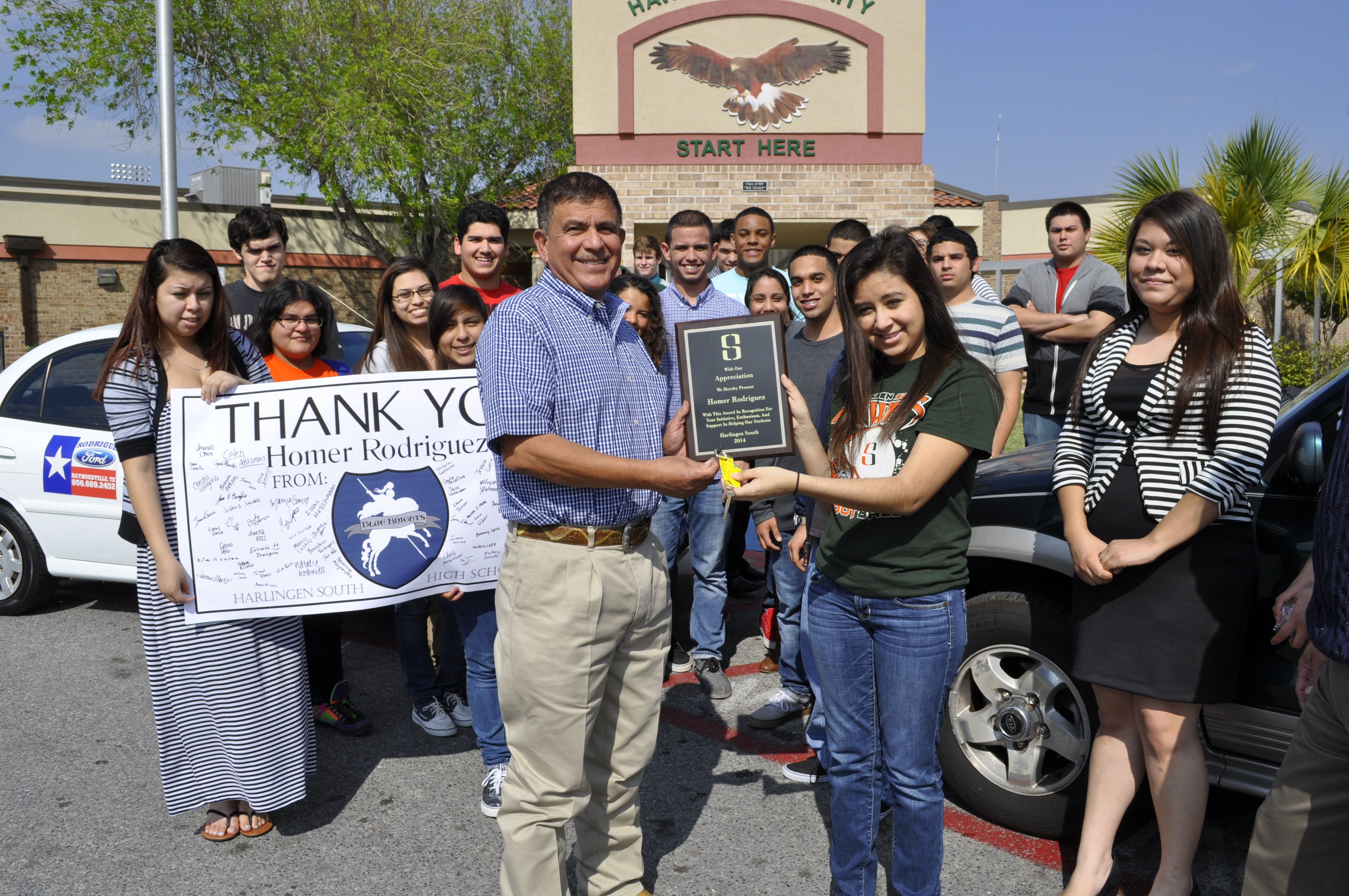 Rodriguez Ford donates cars to HHSS criminal justice class