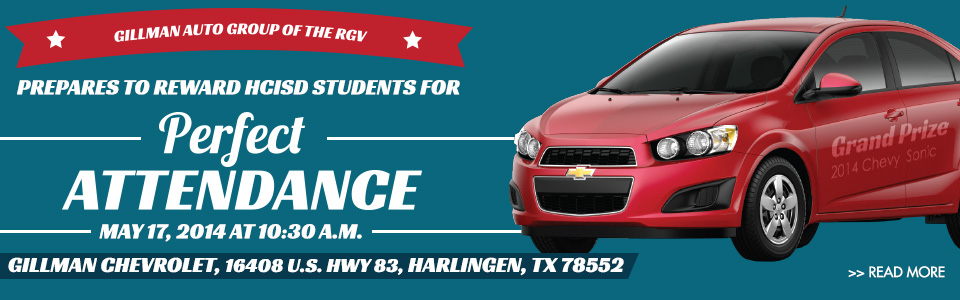 Gillman Auto Group of the RGV prepares to reward HCISD students for Perfect Attendance
