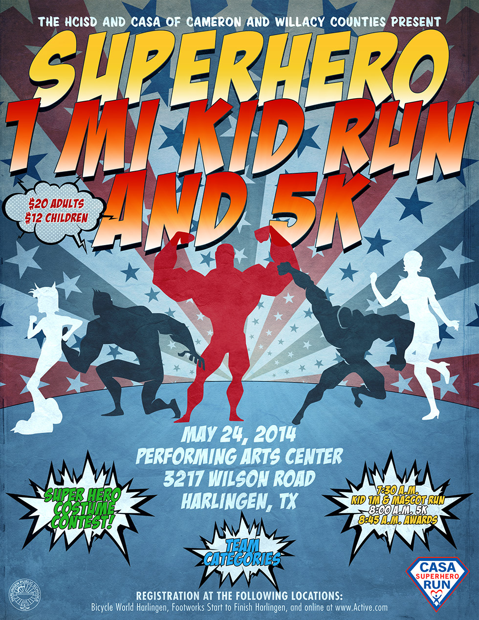 HCISD Invites community to Superhero 5K Run