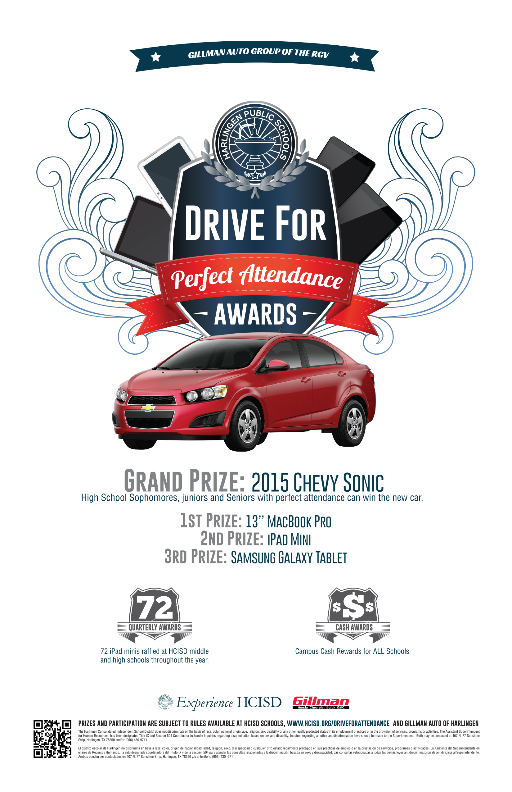 HCISD Sophomores Now Eligible for Drive for Perfect Attendance Awards