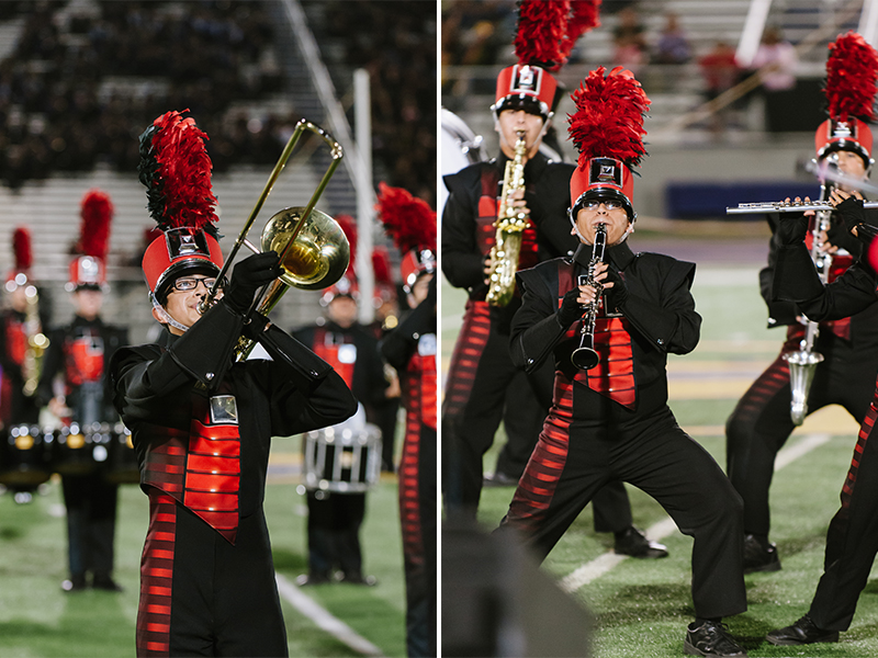 The Big Red Cardinal Band advances to the UIL State Marching Competition