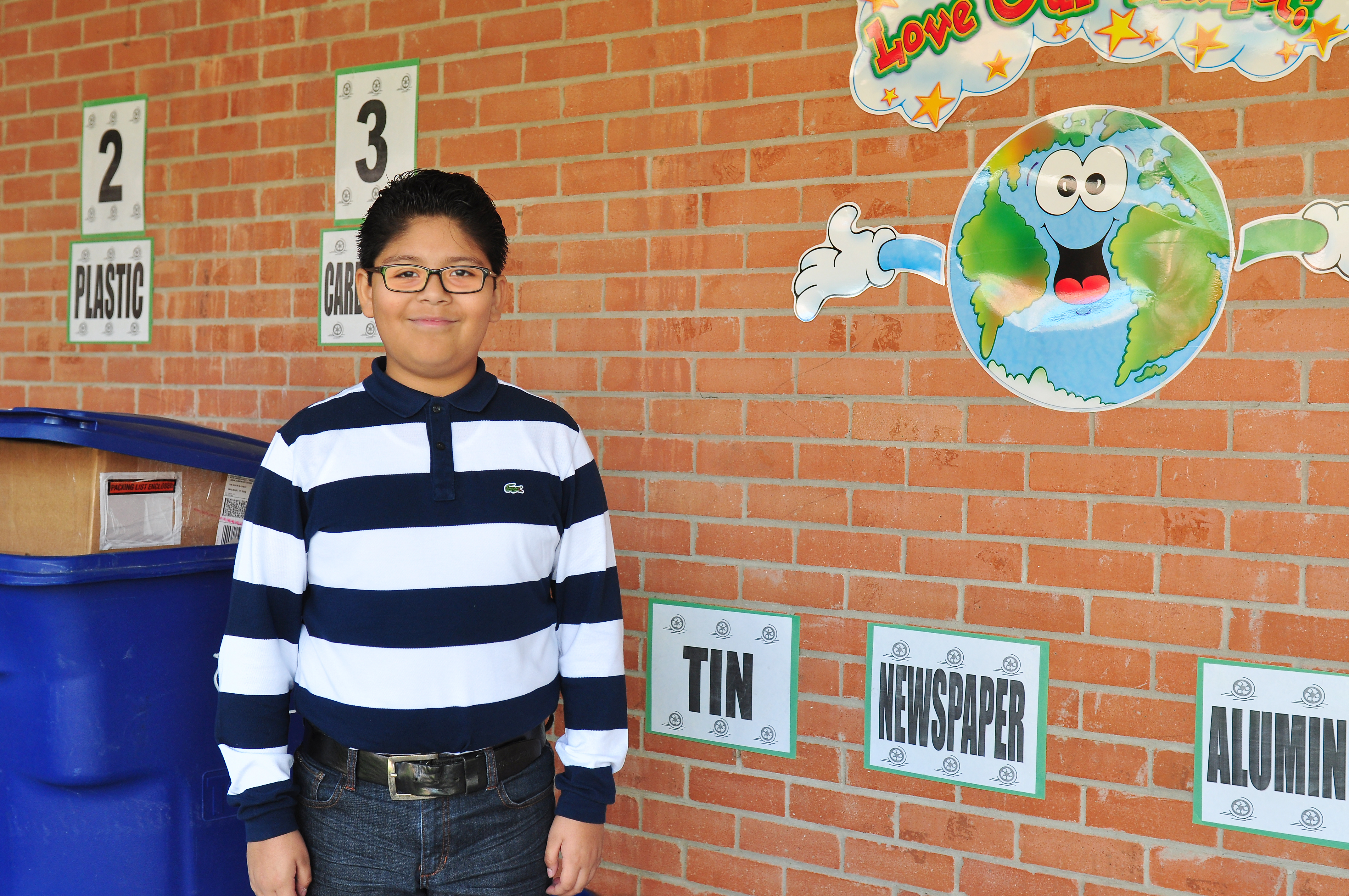 Student of the Week: Fifth grade student keeps campus green