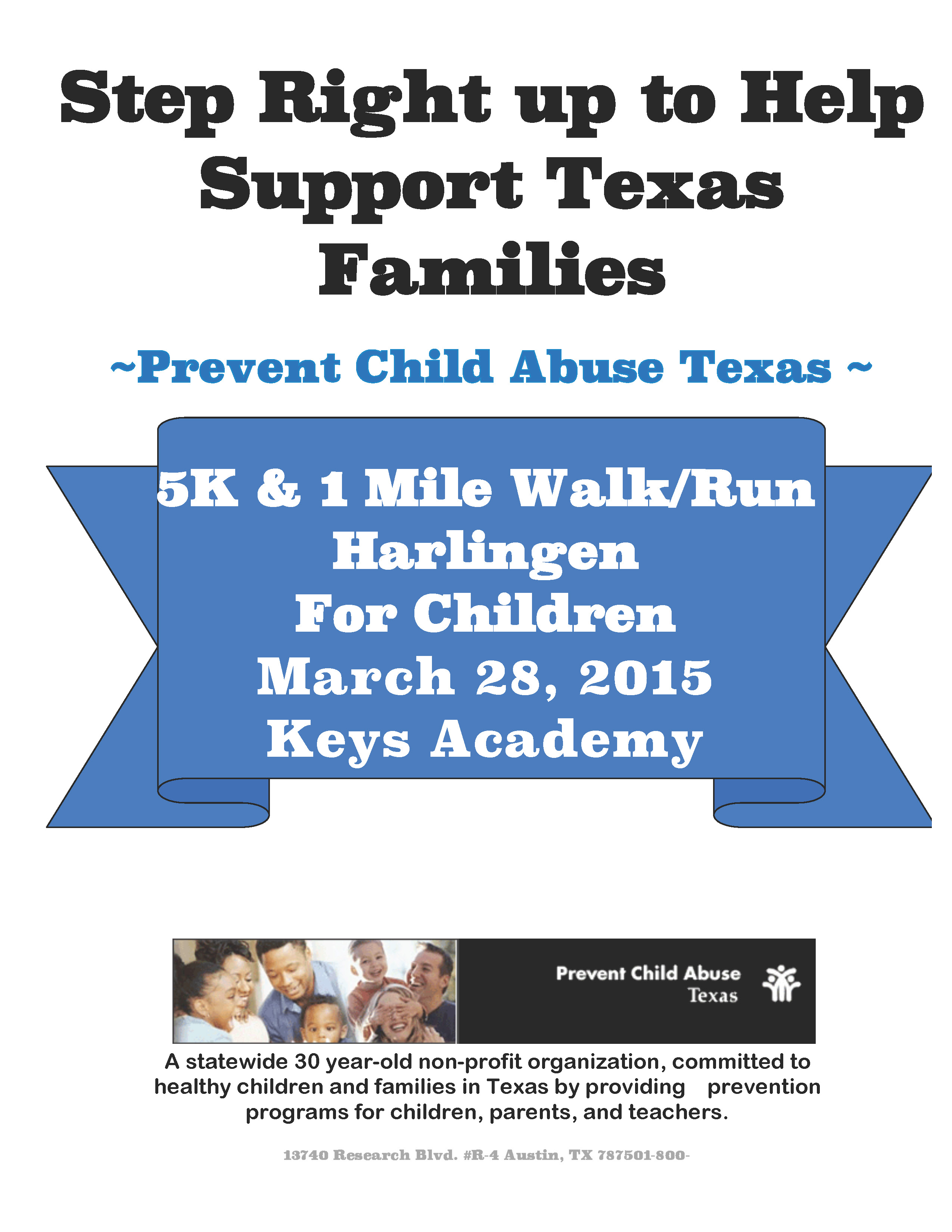 HCISD community invited  to 2nd Annual Child Abuse Awareness Walk/Run