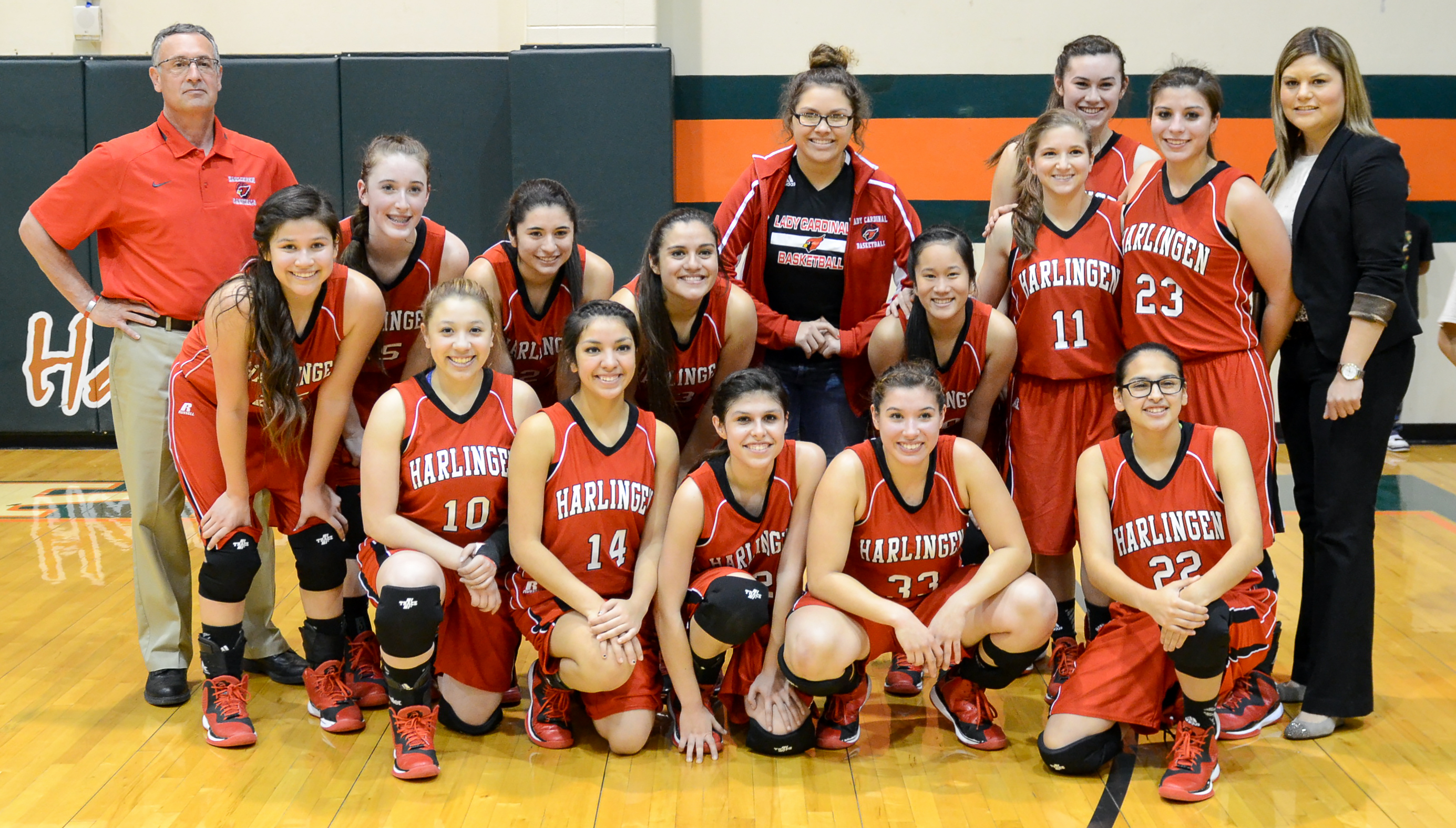 Lady Cardinal Basketball named undefeated District 32-6A Champion