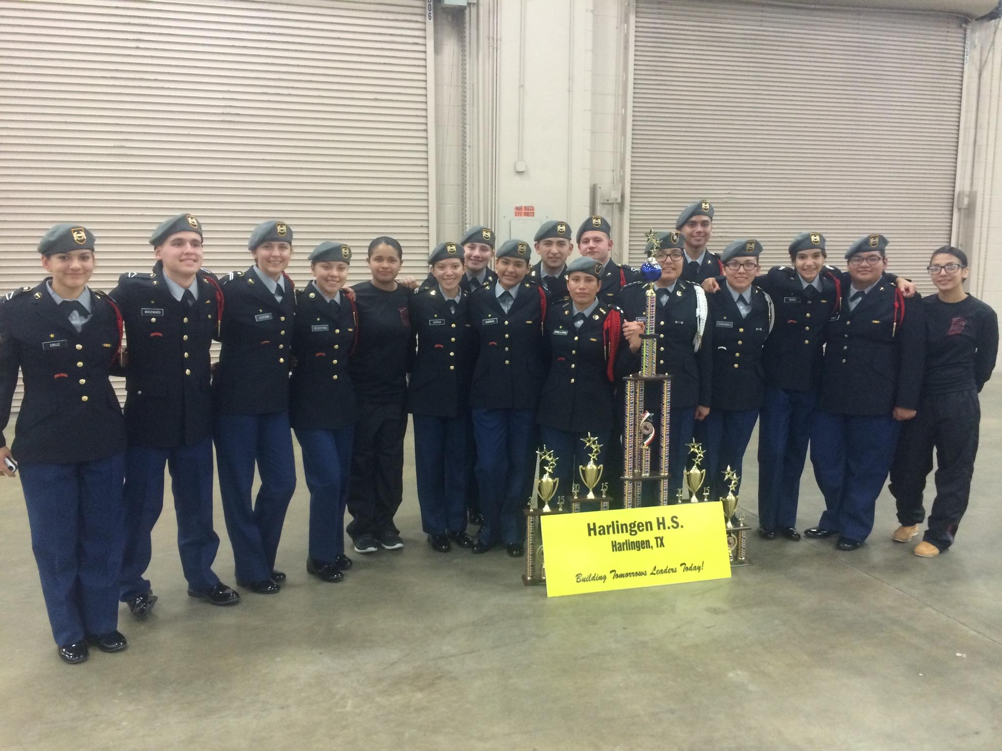 HHS JROTC awarded first place at Drill Team Championship