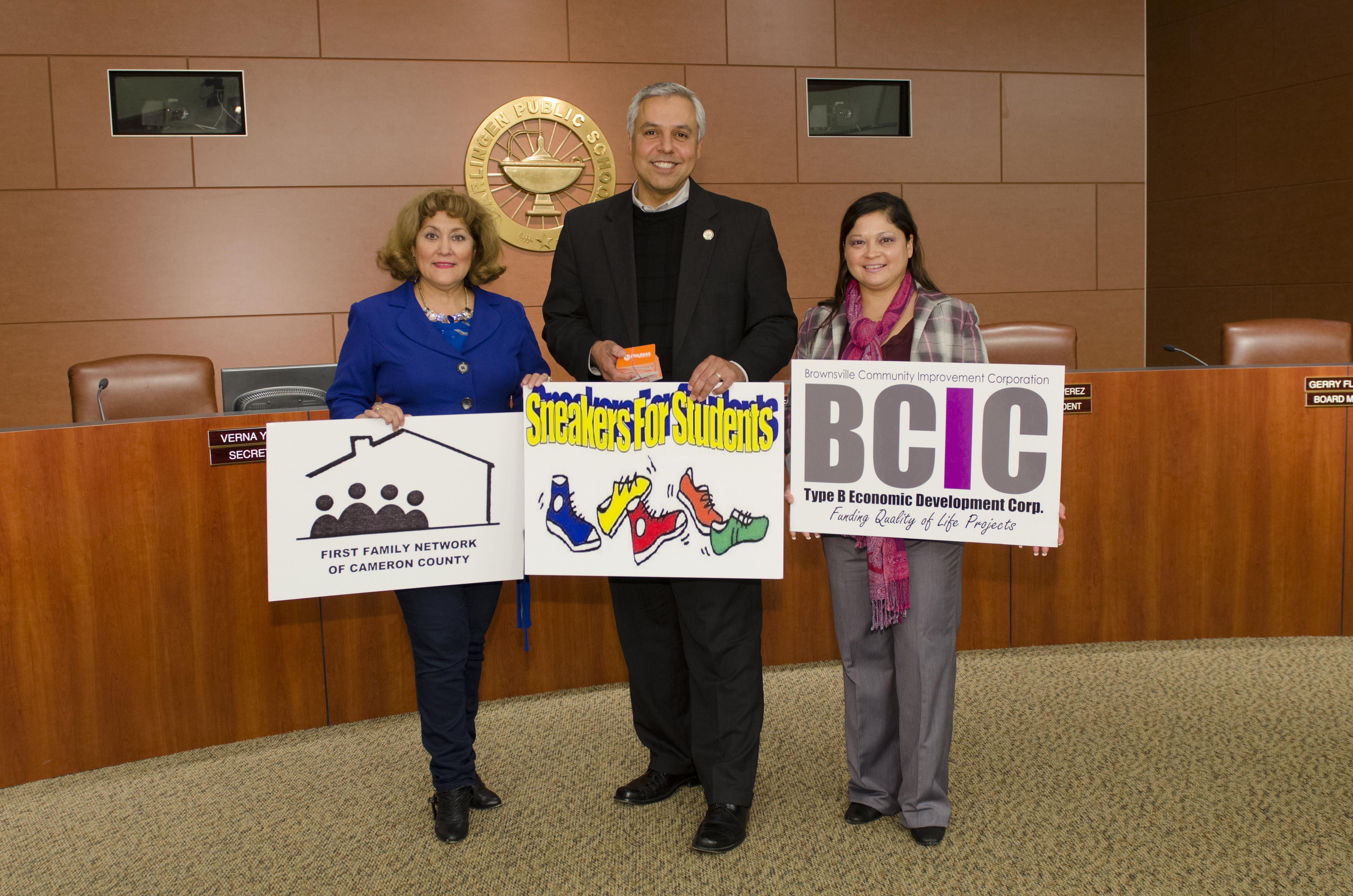 Generous contribution kicks off Heroes for Harlingen CISD shoe drive