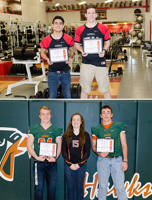Students receive Academic All-State Awards
