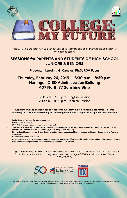 HCISD invites the community to College: My Future
