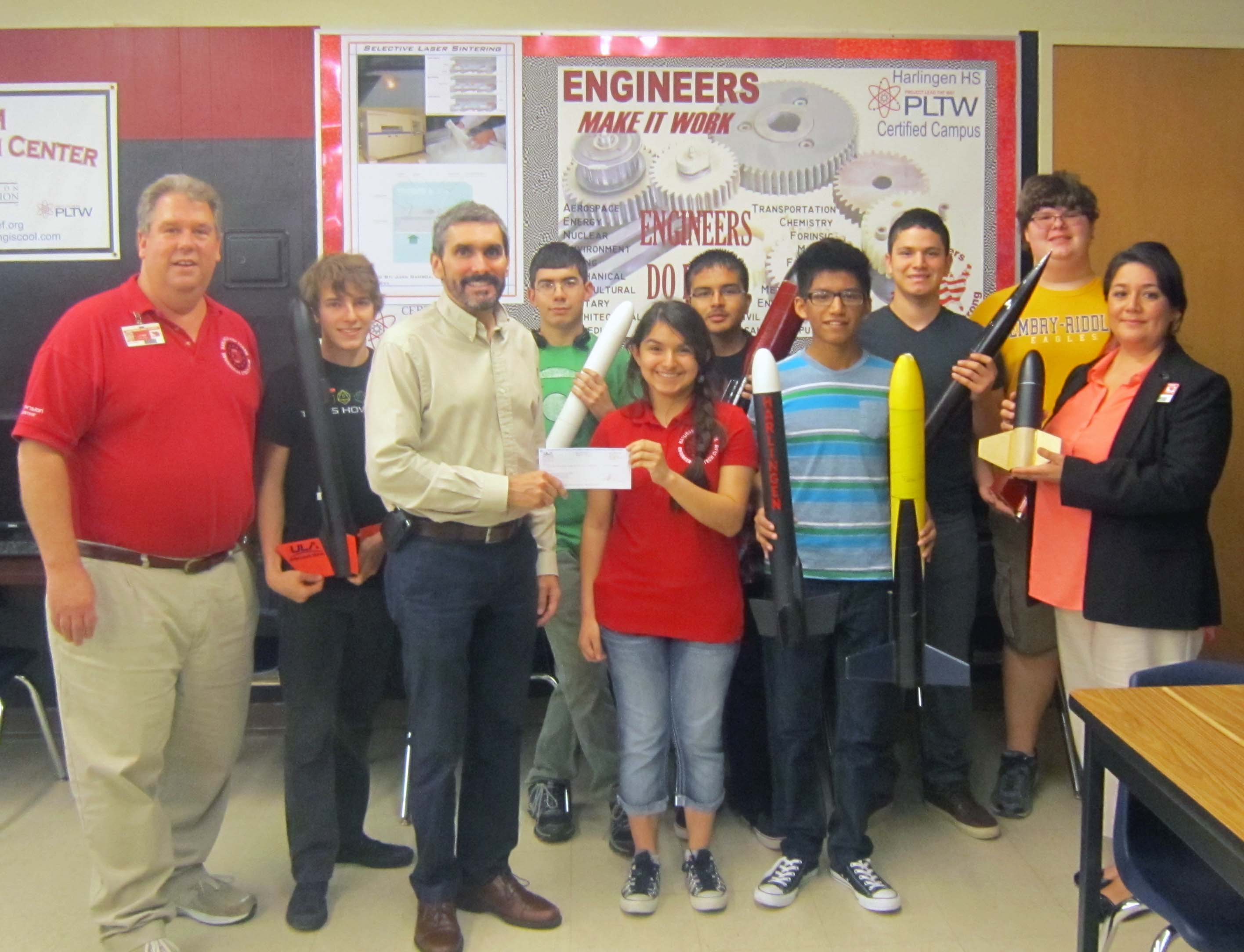 ULA awards grant to HCISD engineering clubs