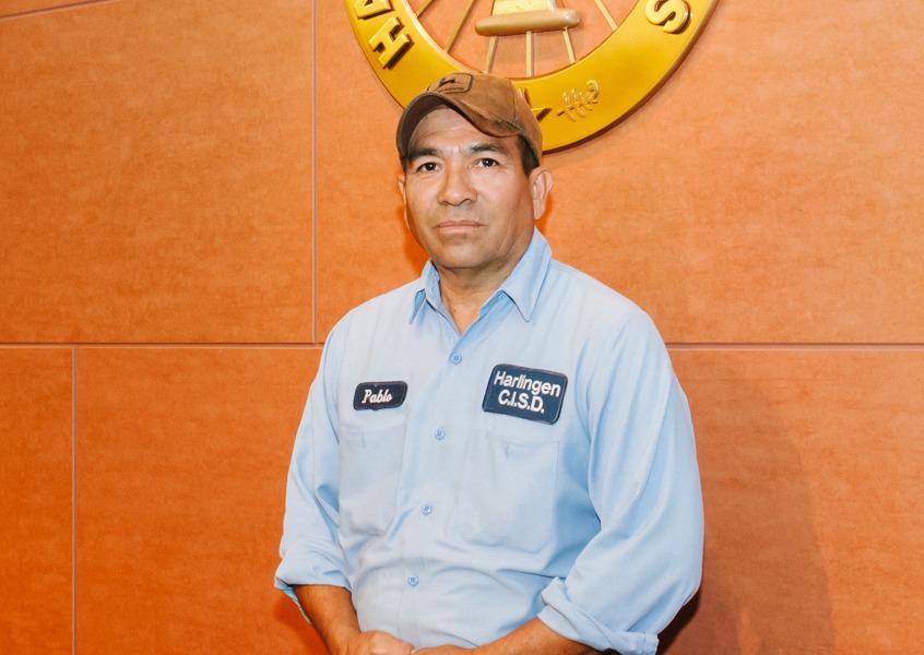 HCISD's Pablo Pecina receives STASMO Maintenance Employee of the Year award