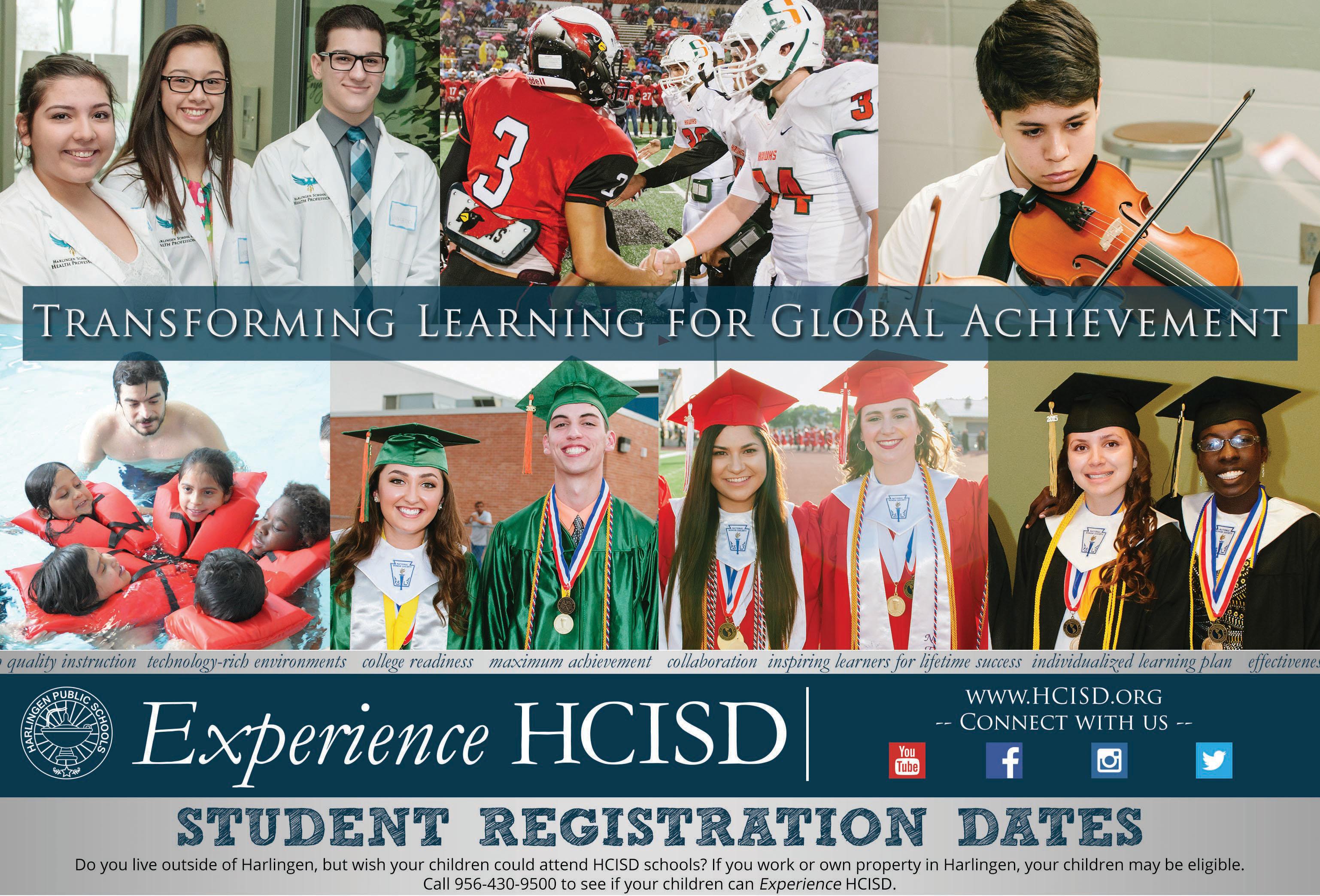 HCISD 2015-2016 Registration Dates