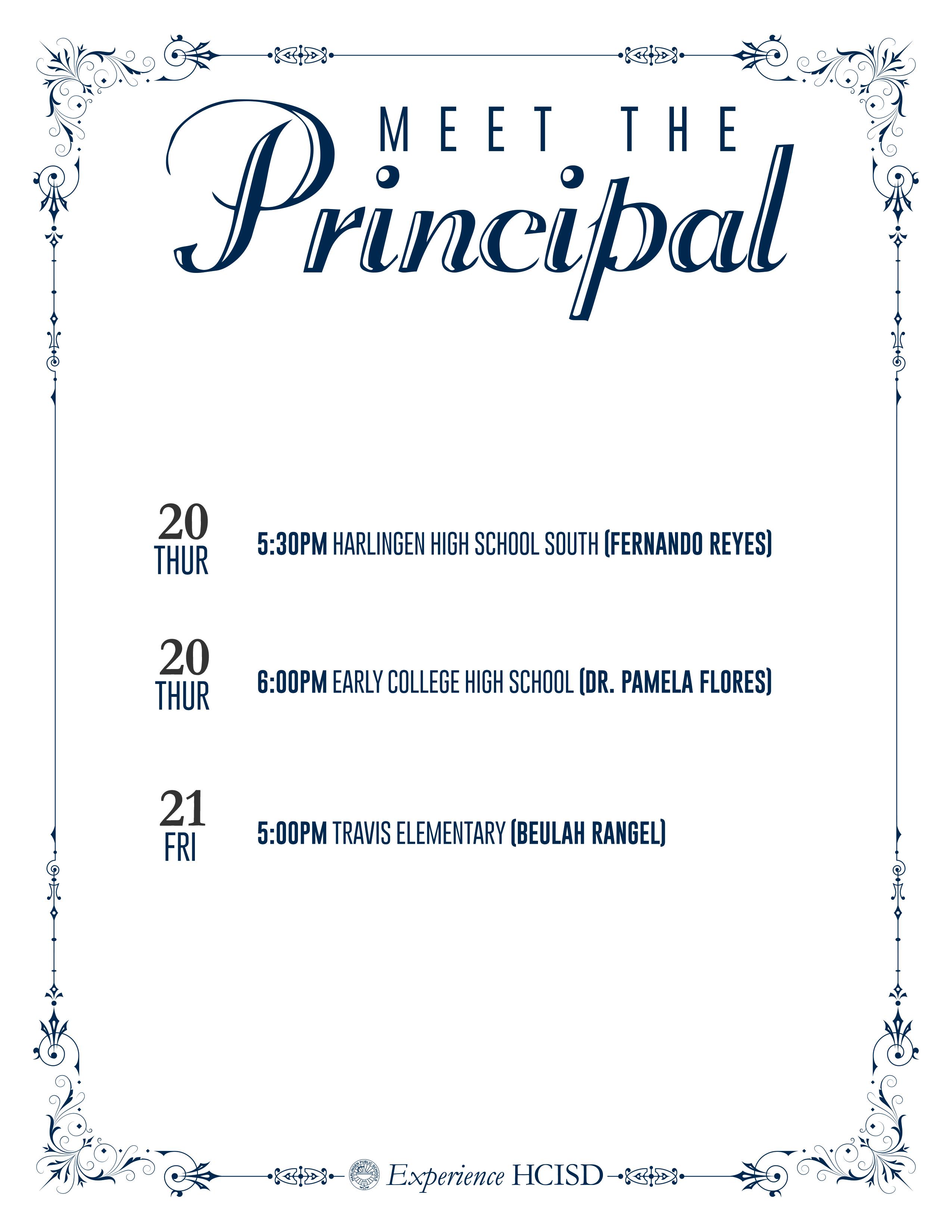 2015 Meet the Principal Events